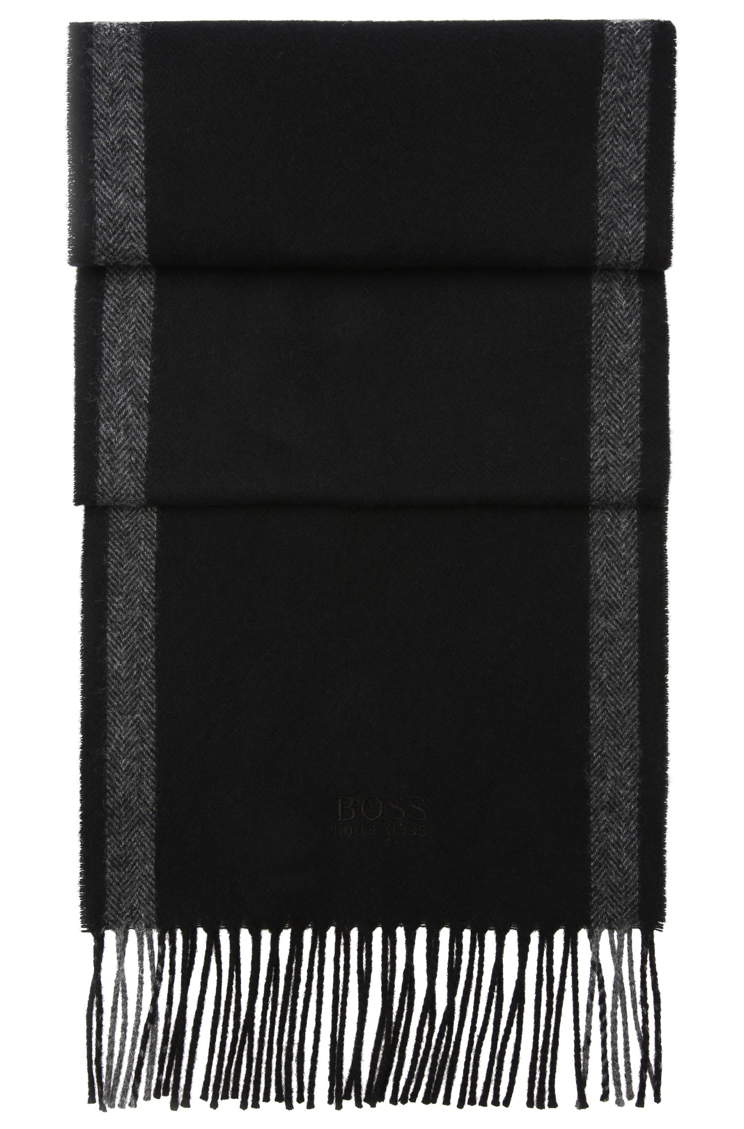 Scarf in a wool blend with cashmere: 'C-Albarello 3'