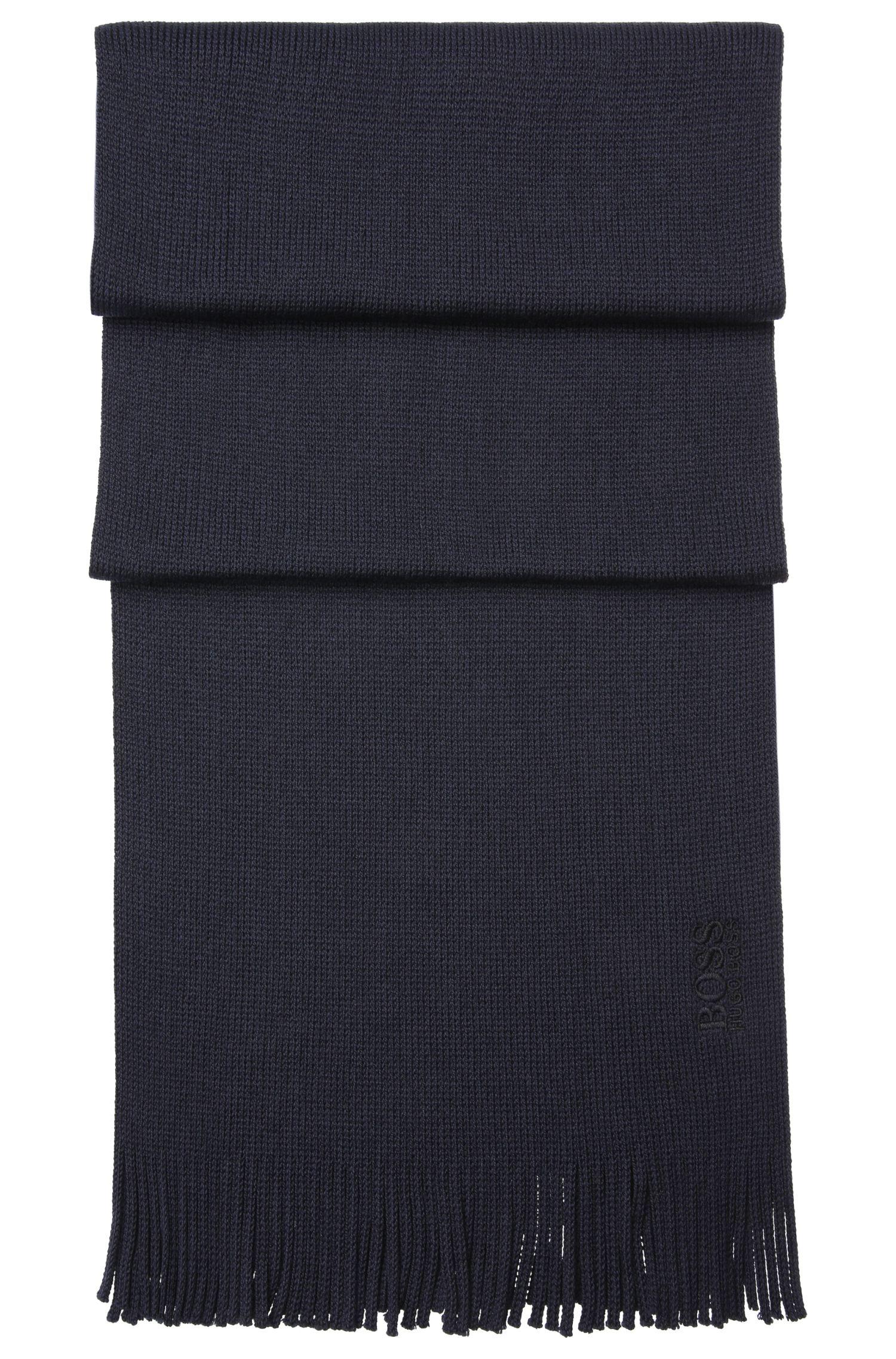 Schurwoll-Schal in Feinstrick-Qualität mit Fransen: ´C-Albas`