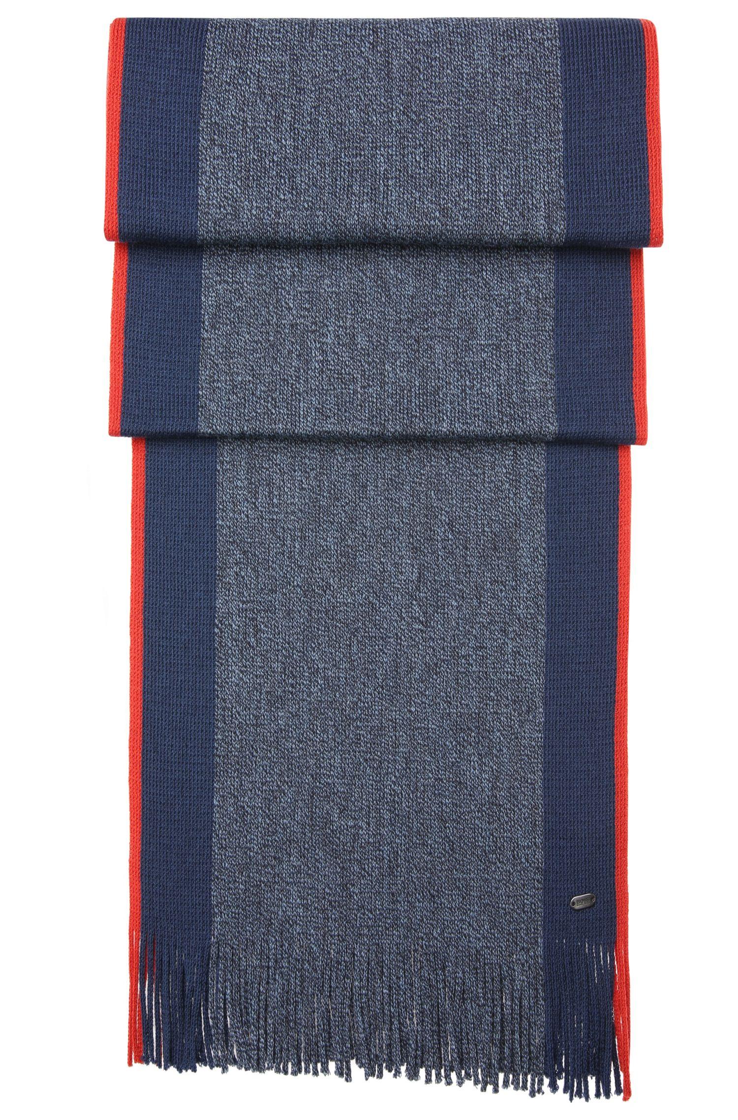 Feinstrick-Schal aus Schurwolle mit Fransen: ´C-Fadon 2`