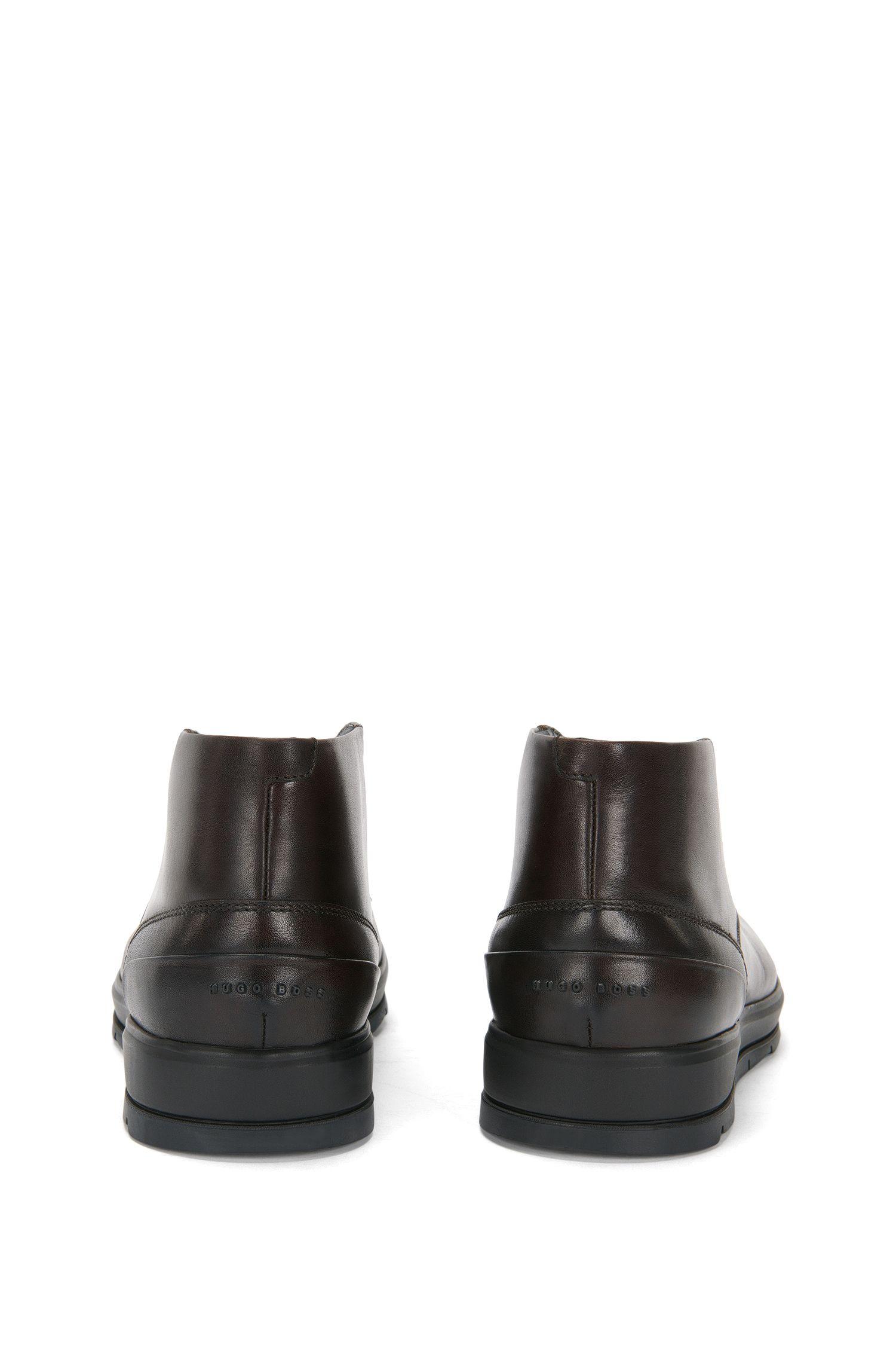Desert Boots aus glattem Leder: 'Icon_Desb_ltpt'