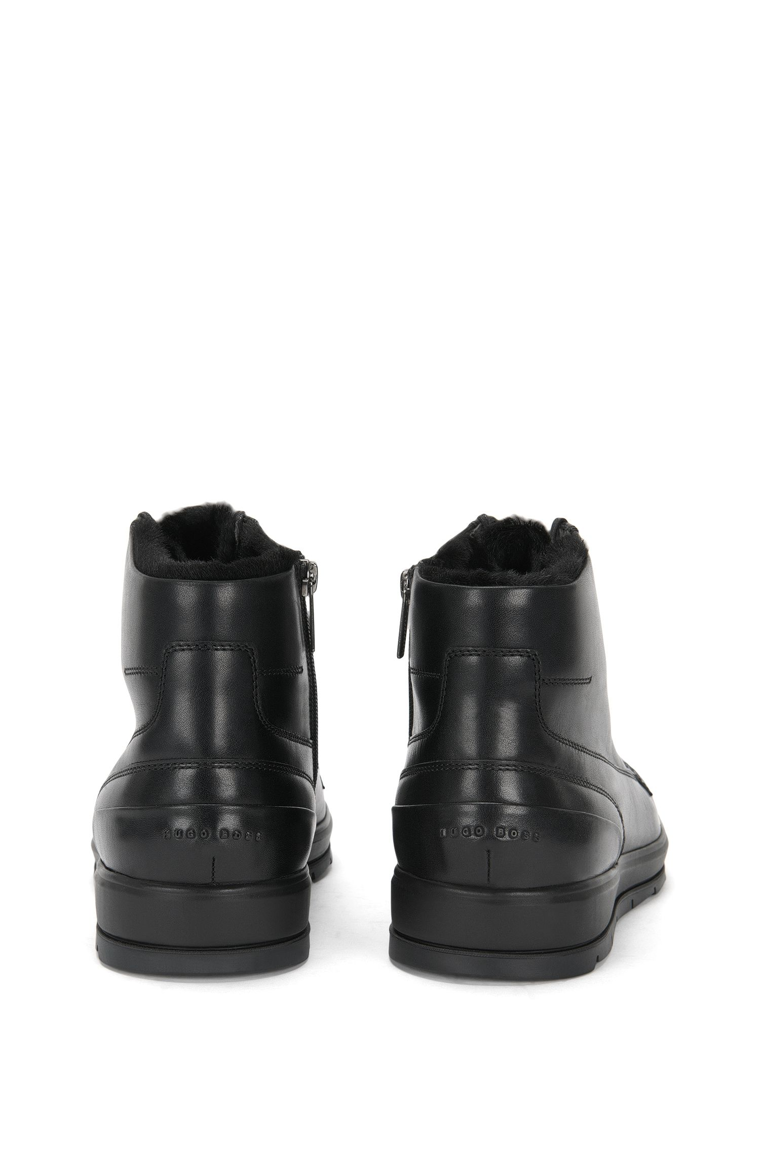 Bottines mi-hautes doublées en cuir: «Icon_Halb_lt»