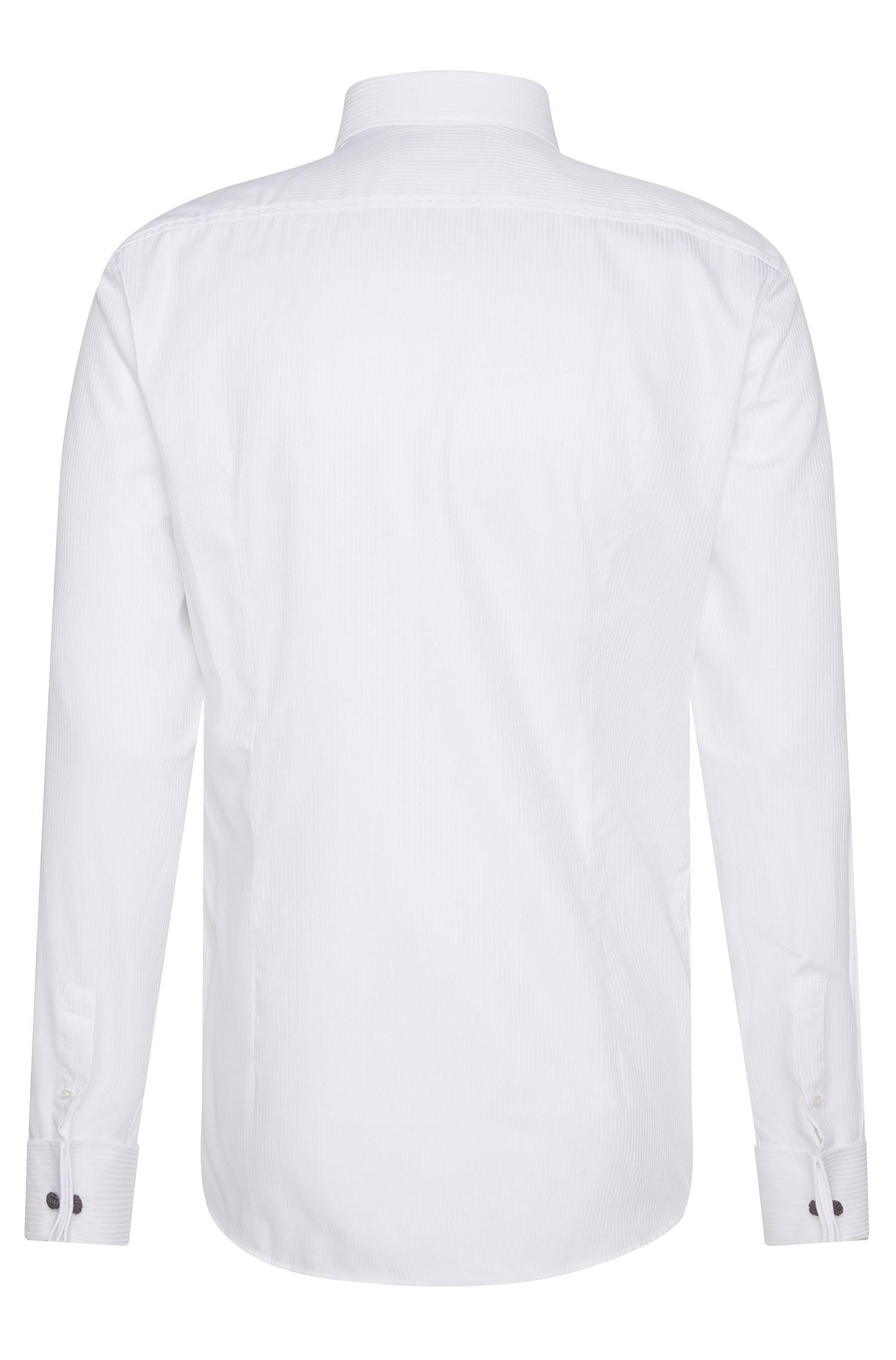 Chemise Slim Fit en pur coton avec poignets mousquetaires: «Jaques»