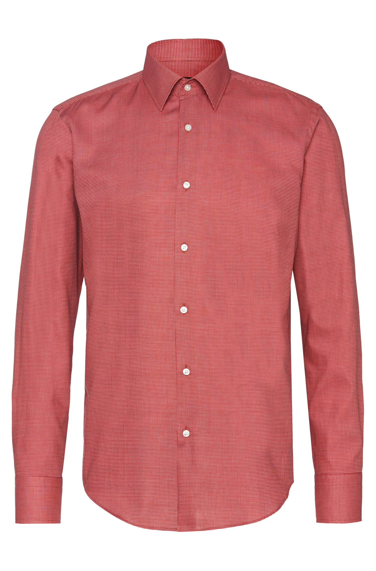 Patterned regular-fit shirt in cotton: 'Enzo'
