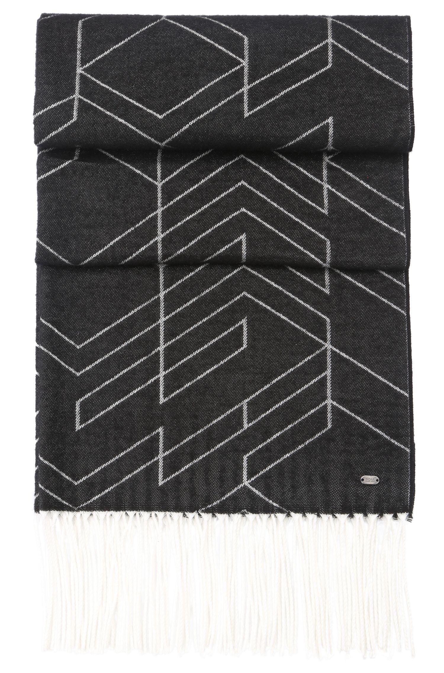 Écharpe réversible en coton mélangé, à motif: «Scarf-Herringbone»