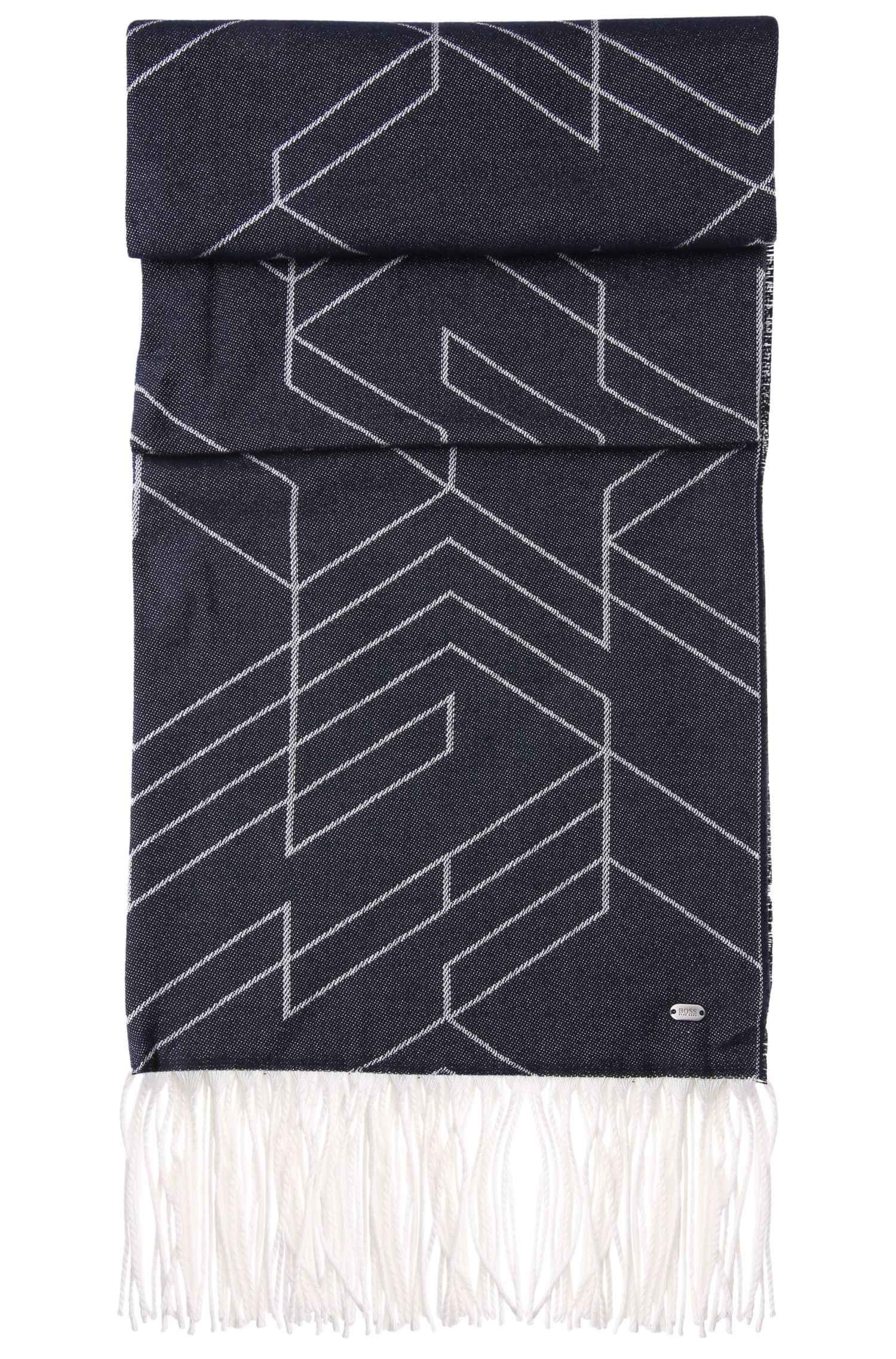 Sciarpa double-face a disegni in misto cotone: 'Scarf-Herringbone'