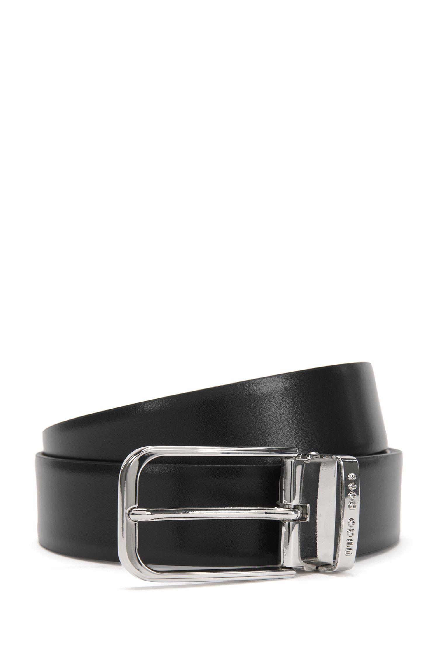 Wendegürtel aus Leder mit austauschbaren Schließen: 'Garlef_Gb35_ps'