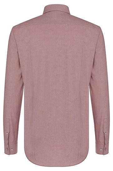 Slim-Fit Hemd aus reiner Baumwolle: 'Isaak', Rot
