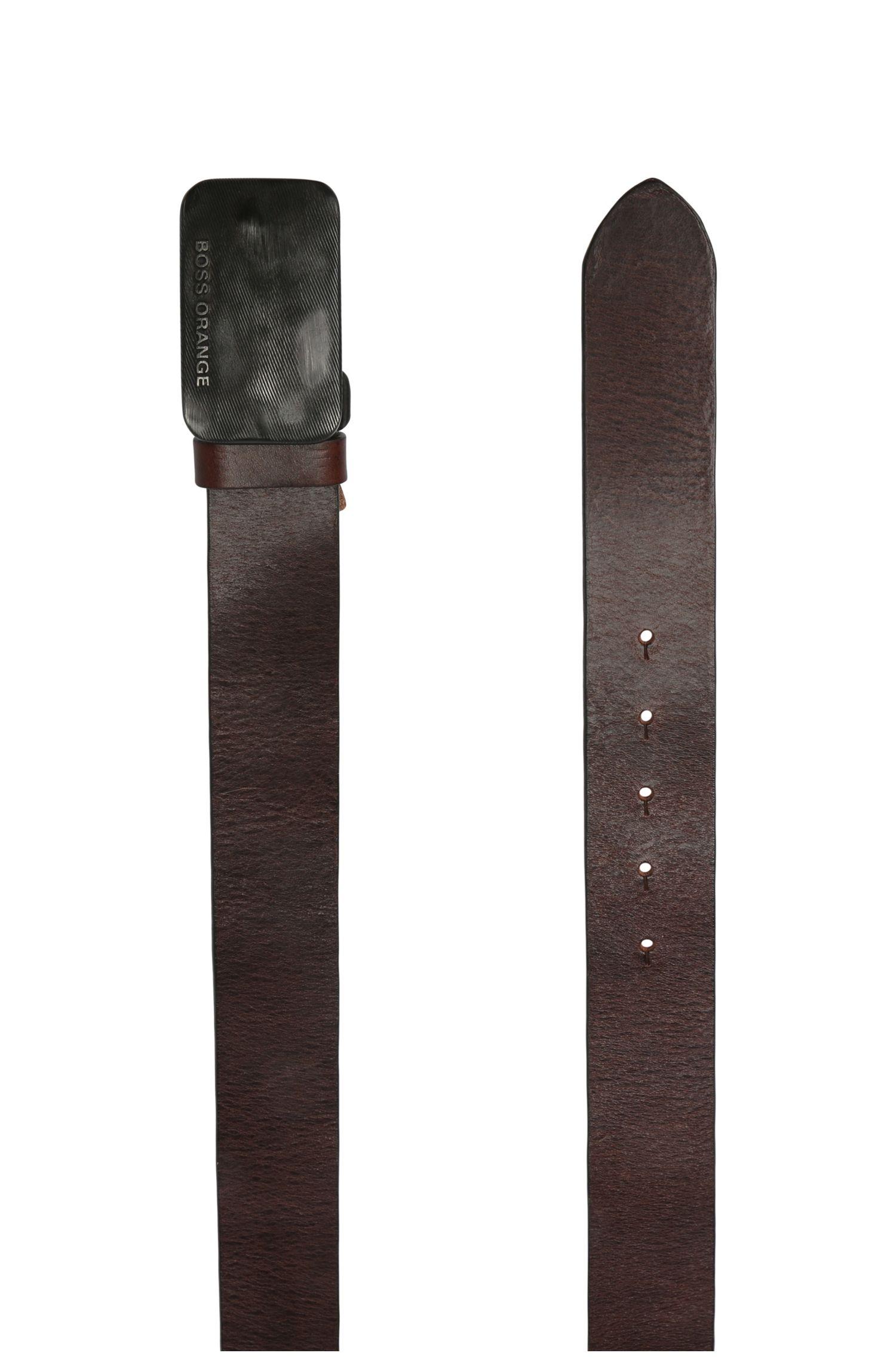 Ledergürtel mit markanter Metallschließe: ´Jacko_Sz40_ltp`