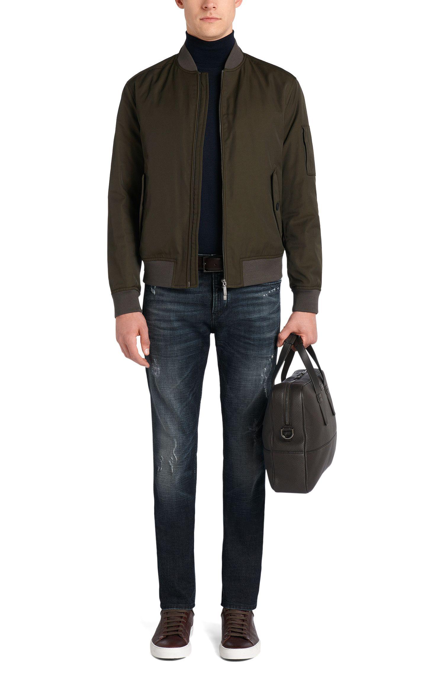 Slim-Fit Jeans aus Stretch-Baumwolle im Used-Look: 'Delaware3'