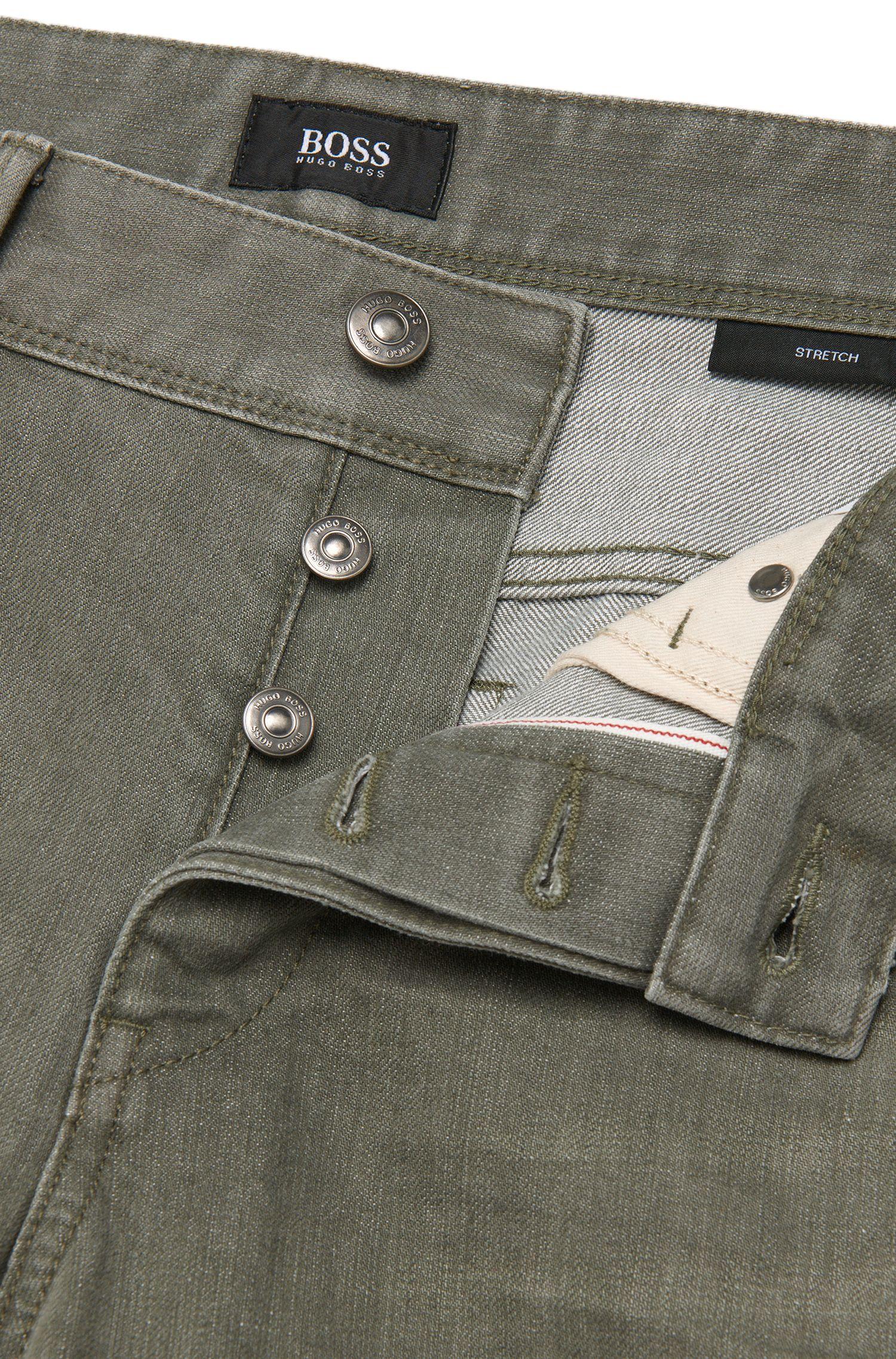 Jeans Slim Fit en coton mélangé à effet délavé: «Delaware3-Edge1»
