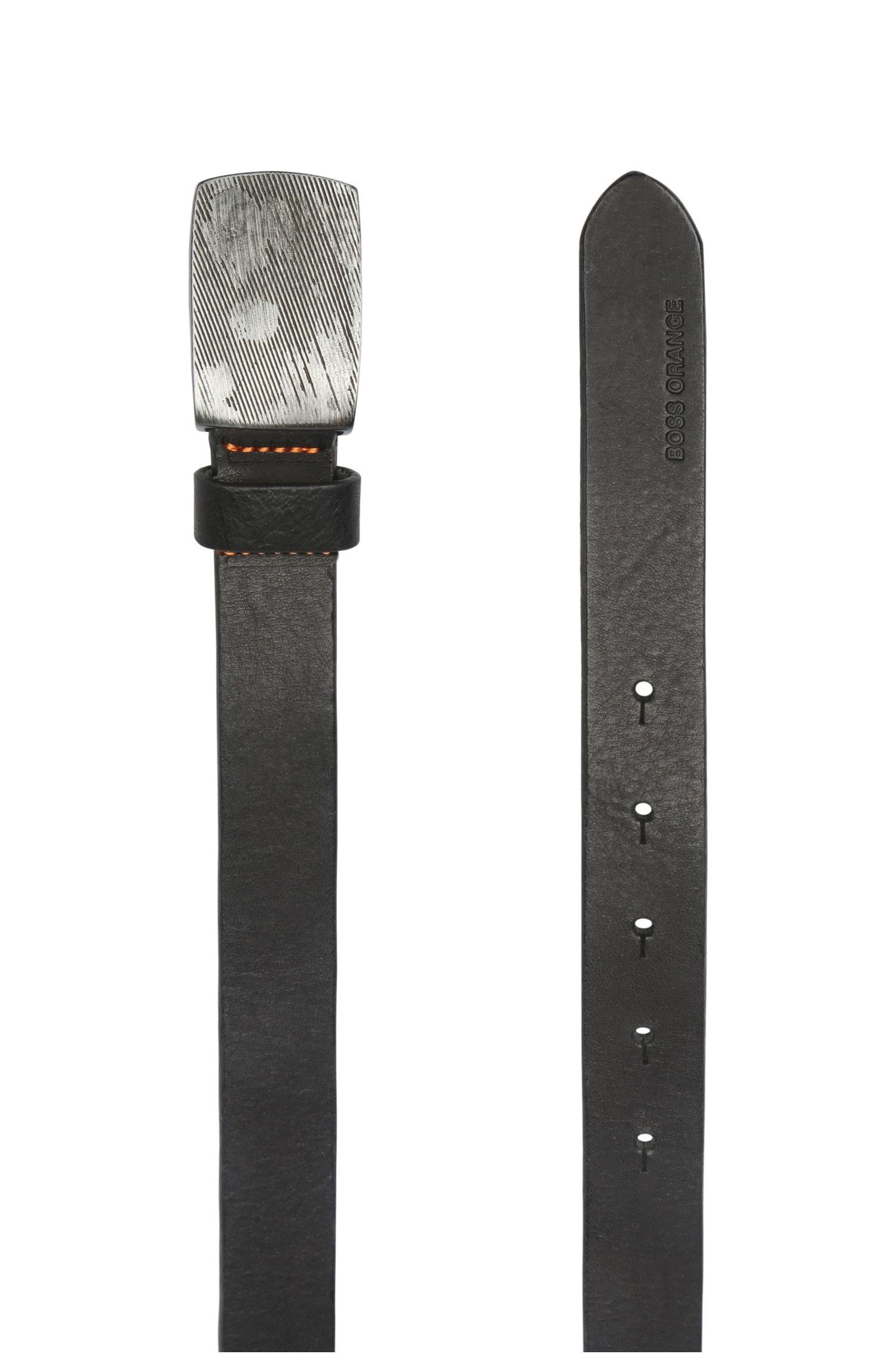 Ledergürtel mit Metallschnalle in Used-Optik: ´Judd_Sz25_ltpl`