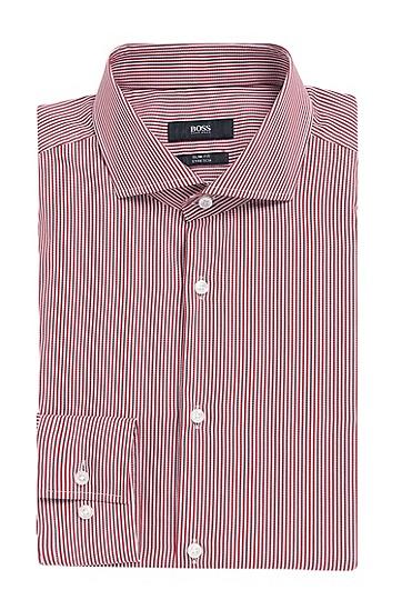 Gestreiftes Slim-Fit Hemd aus Baumwoll-Mix: 'Jason', Rot
