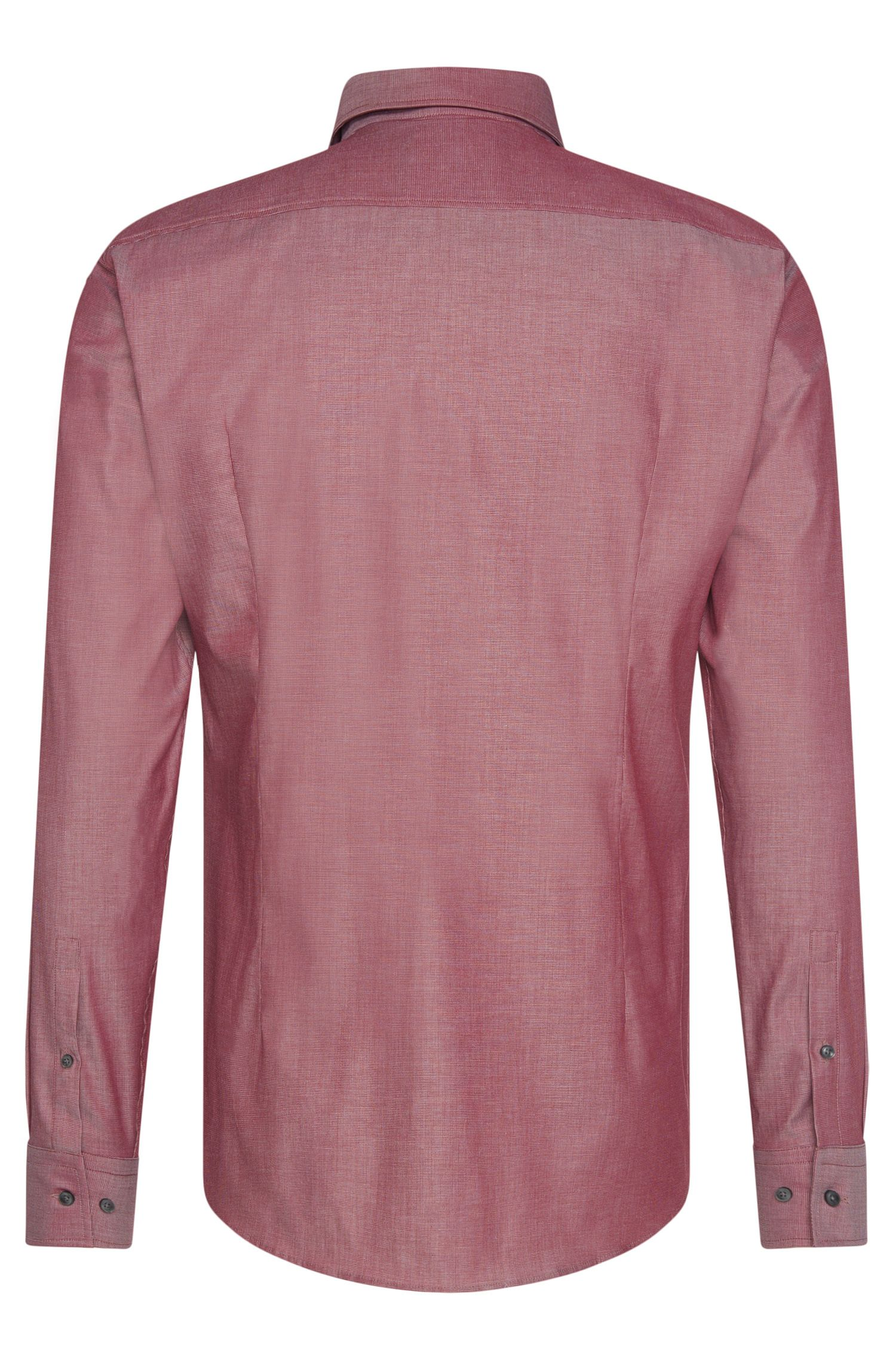 Slim-fit overhemd van stretchkatoen met fijn dessin: 'Jason'