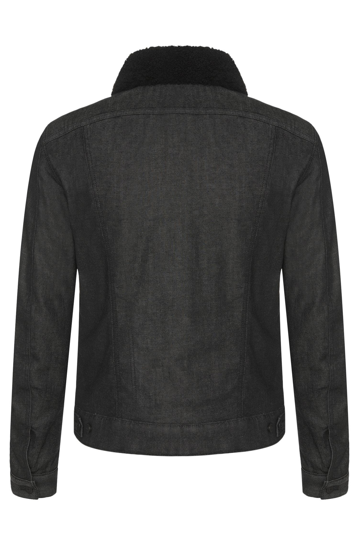 Veste en jean Slim Fit en coton stretch dotée d'un col amovible: «Windham3»