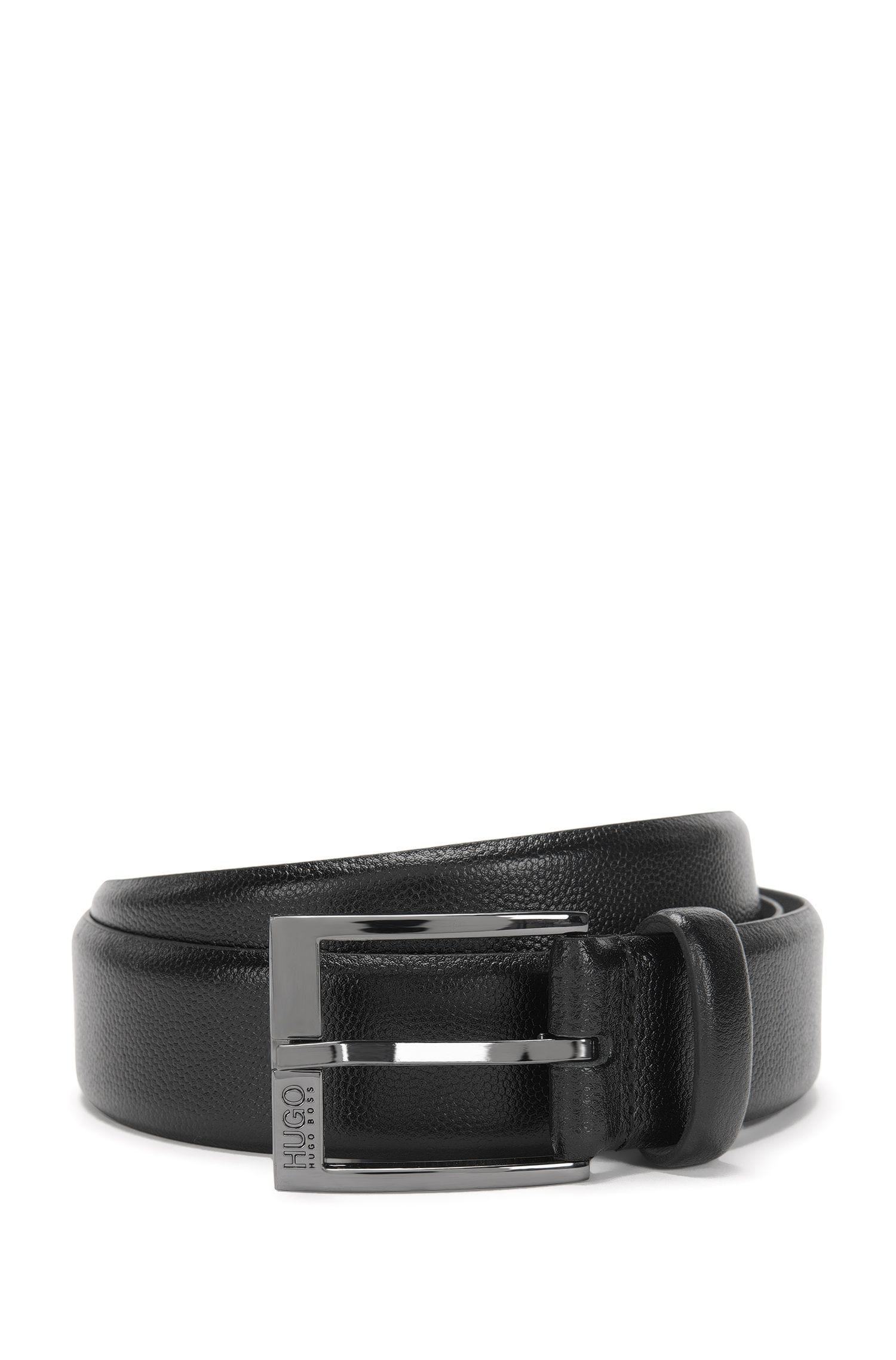 Belt in embossed leather: 'C-Ellotyon_Sz35_ltem'