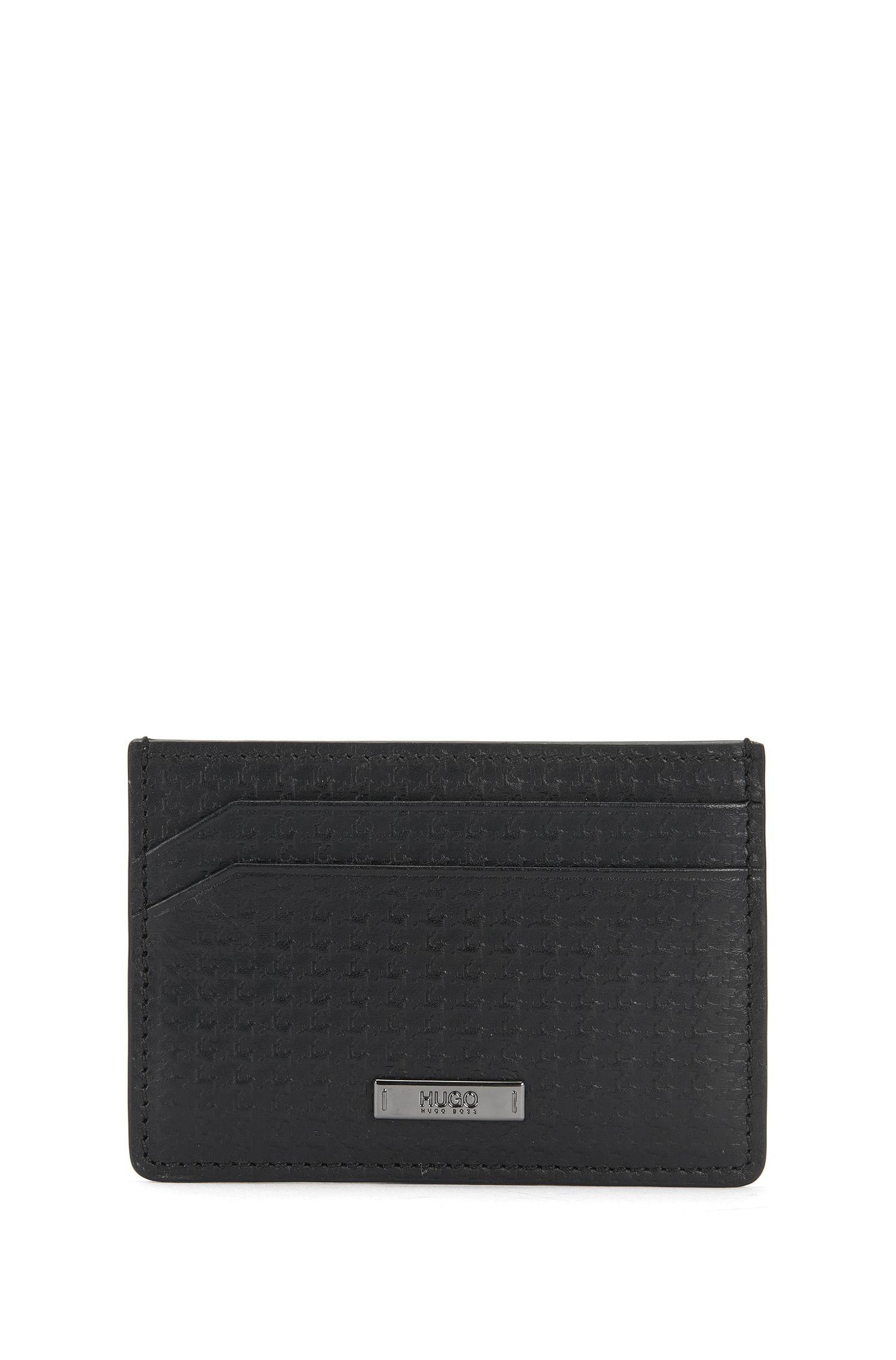 Set mit Geldbörse und Kartenetui aus geprägtem Leder: 'GbH16FW_8 cc S card'