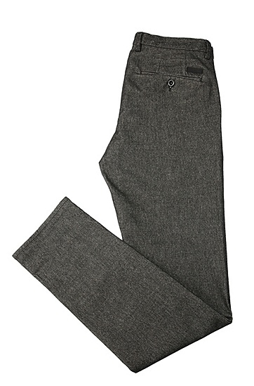 Slim-Fit Hose aus elastischem Baumwoll-Mix mit Viskose: ´C-Rice1-3-W`, Schwarz