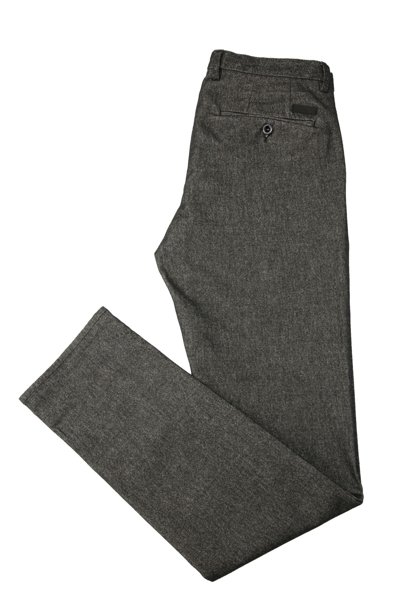 Slim-Fit Hose aus elastischem Baumwoll-Mix mit Viskose: ´C-Rice1-3-W`