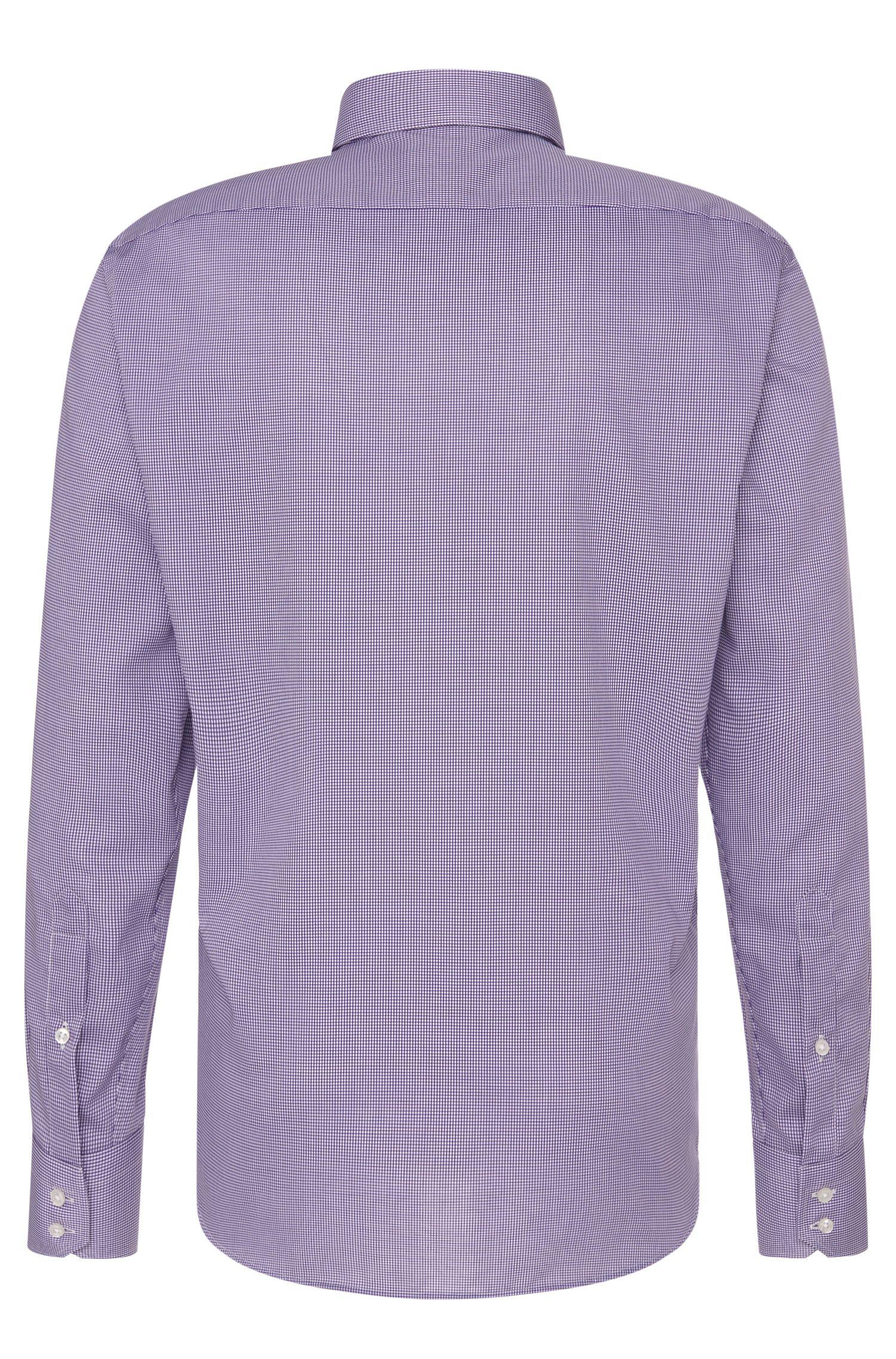 Fein kariertes Regular-Fit Travel Line Hemd aus bügelfreier Baumwolle: 'Enzo'