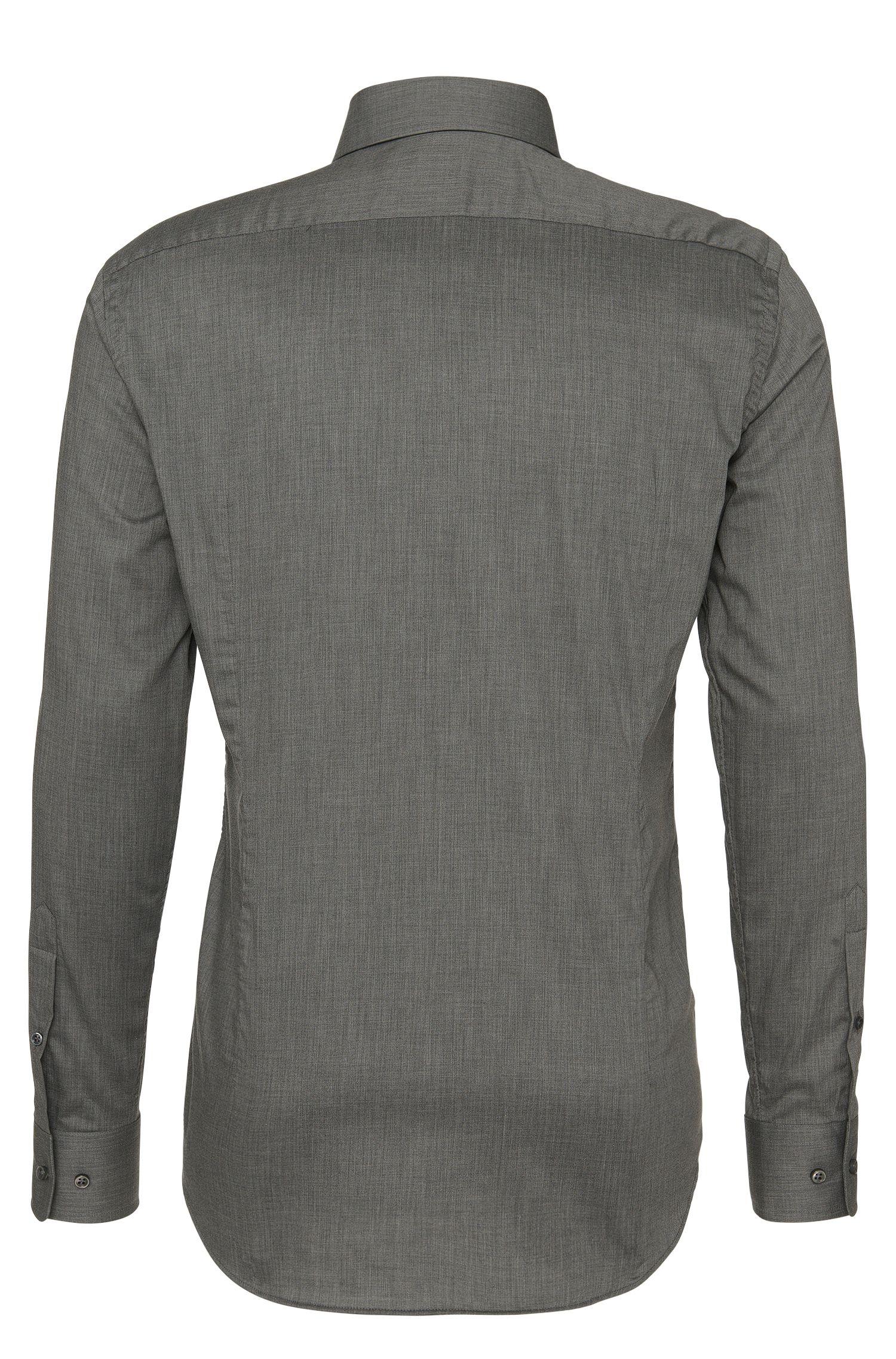 Chemise Tailored Slim Fit en coton, agrémentée d'un motif à chevrons: «T-Stephen»