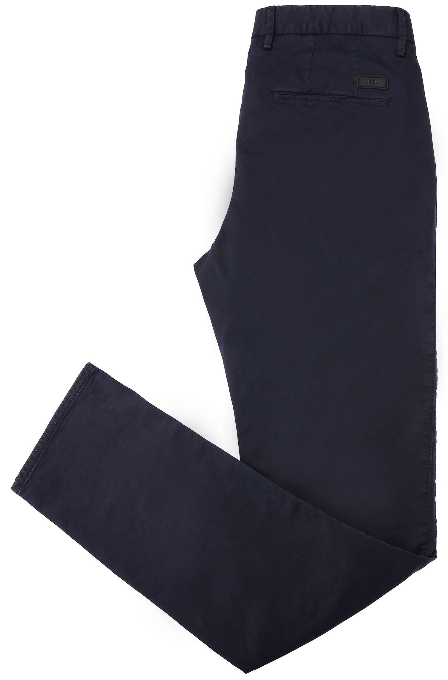 Slim-Fit Chino aus texturierter Stretch-Baumwolle: 'C-Rice1-1-D'
