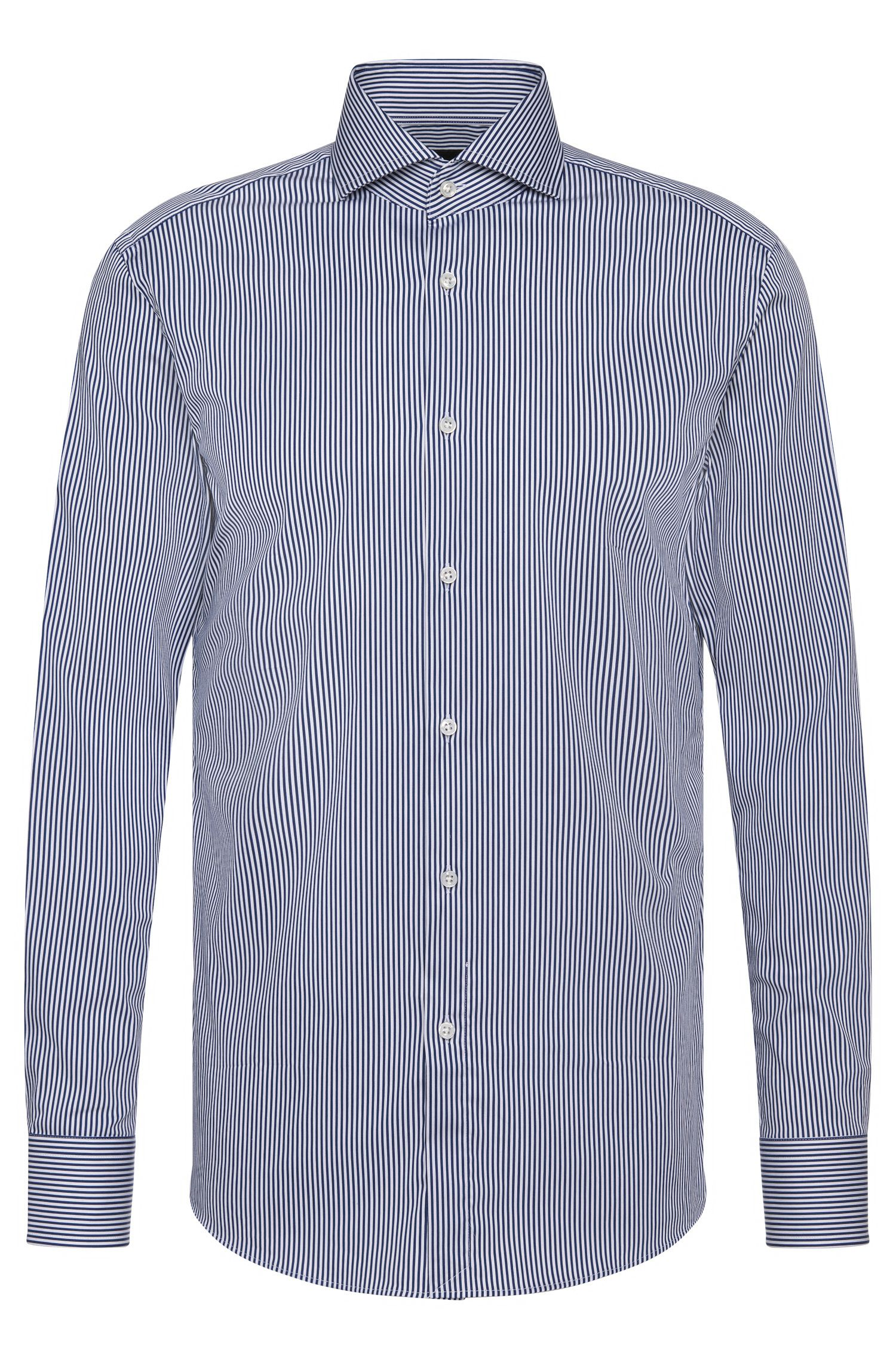 Camicia Tailored slim fit a righe in misto cotone: 'T-Christo'