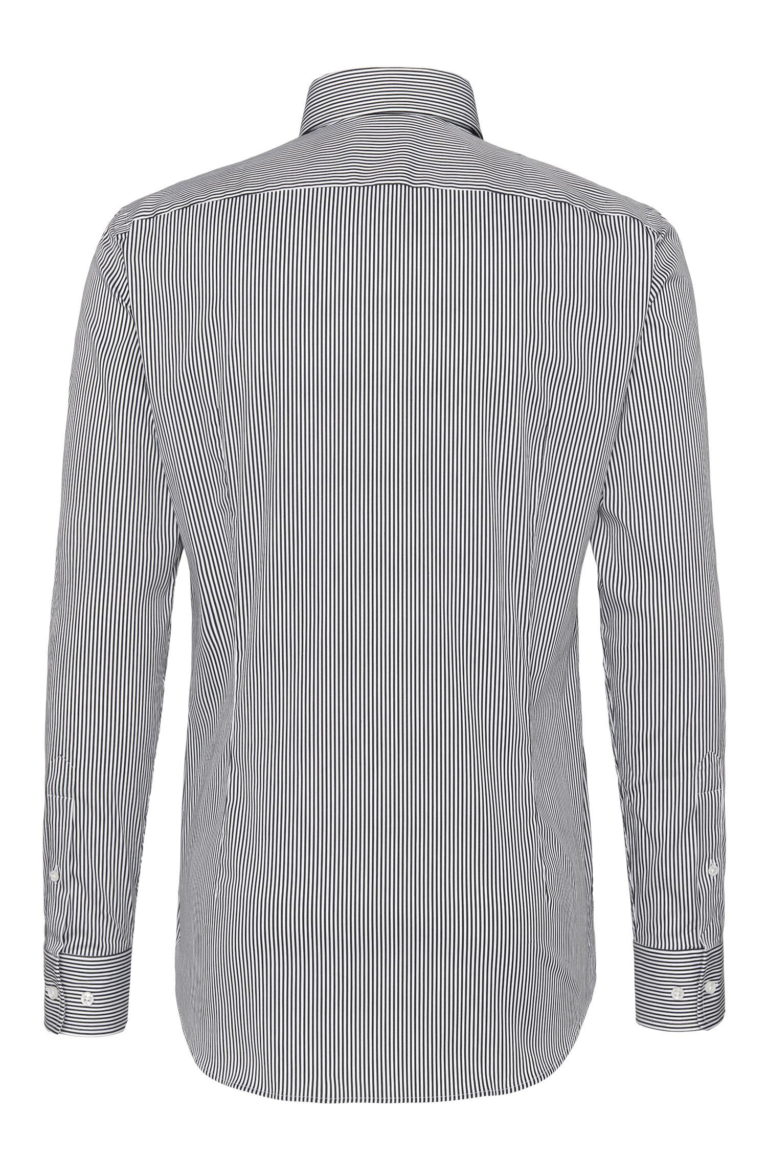 Chemise Slim Fit Tailored en coton mélangé à rayures: «T-Stephen»