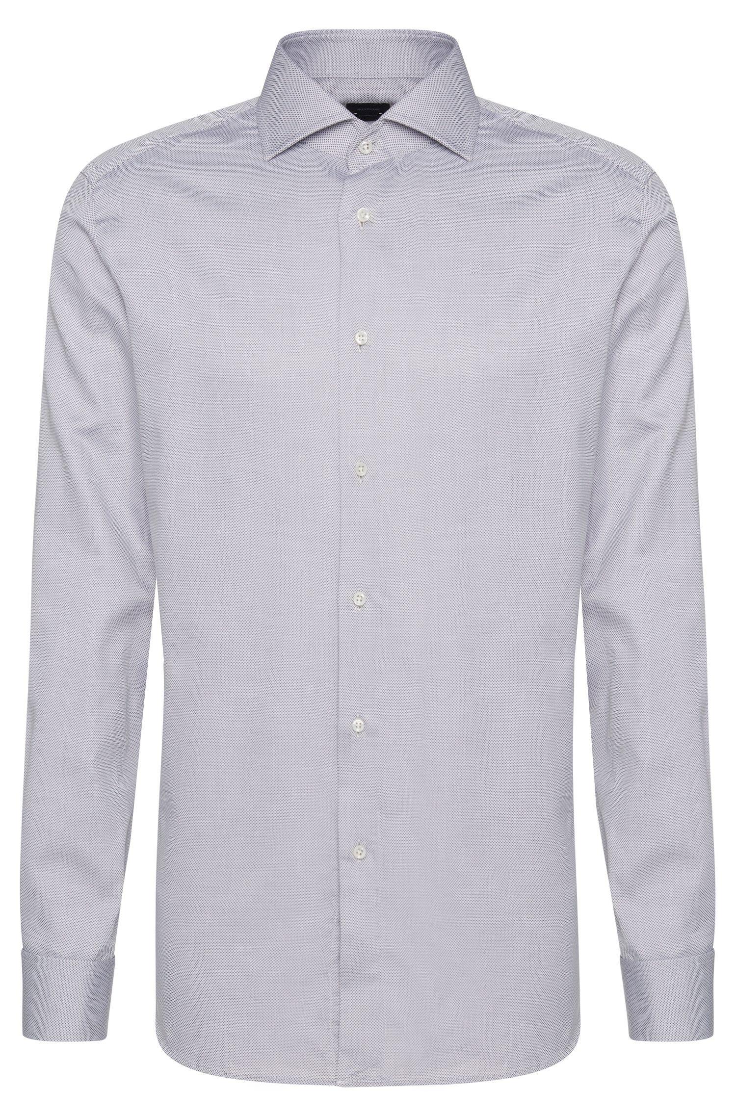 Chemise Regular Fit Tailored en coton avec poignets mousquetaires: «T-Stan»