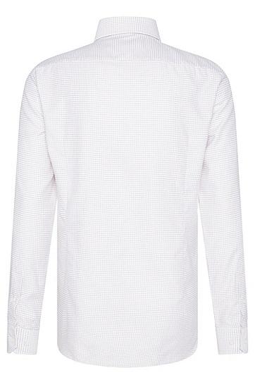 Kariertes Slim-Fit Tailored Hemd aus Baumwolle: 'T-Christo', Rot