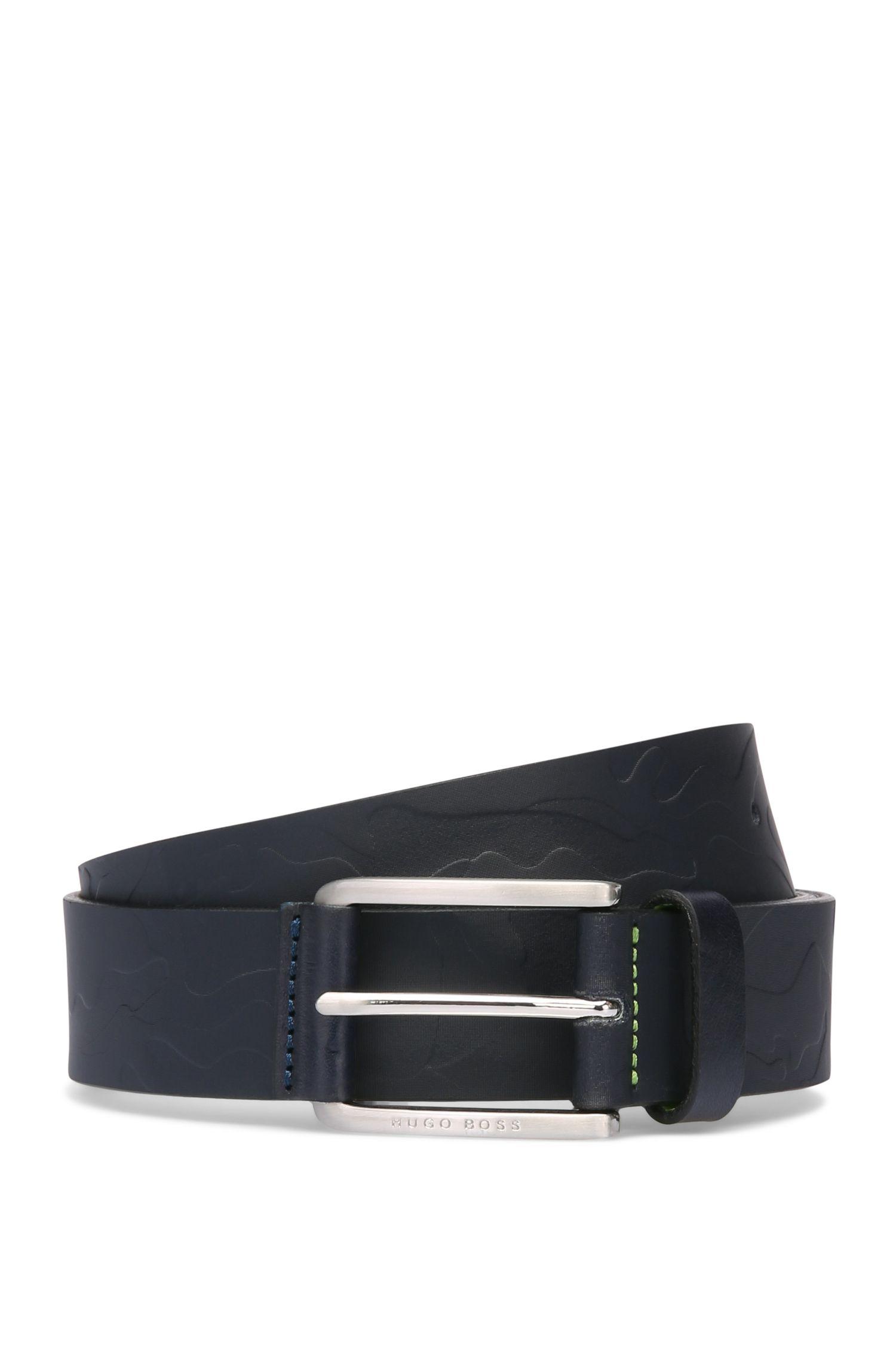 Cinturón de piel con estampado de camuflaje: 'Tucker_Sz35_ltem'