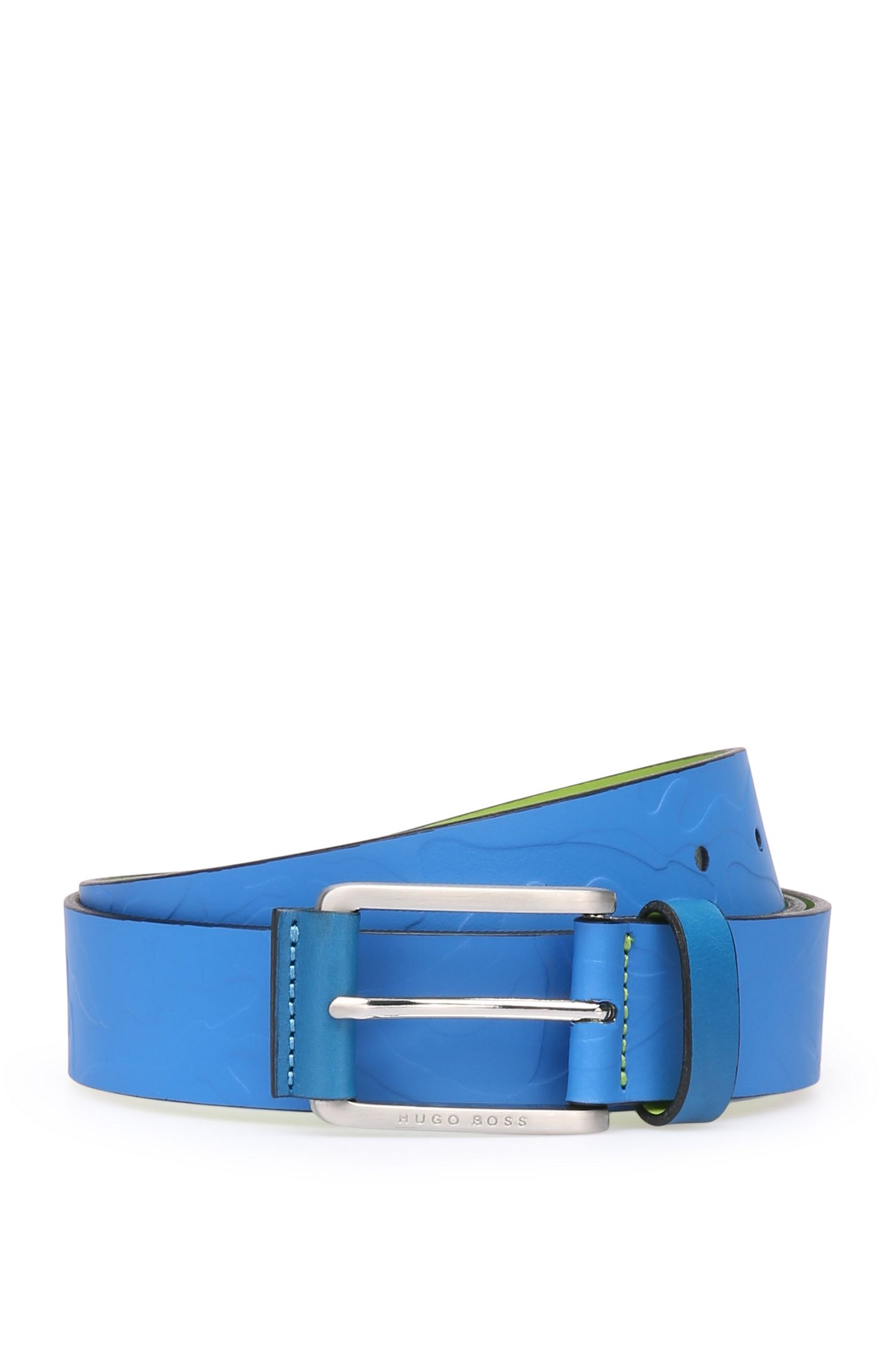 Leather belt with camouflage embossing: 'Tucker_Sz35_ltem'