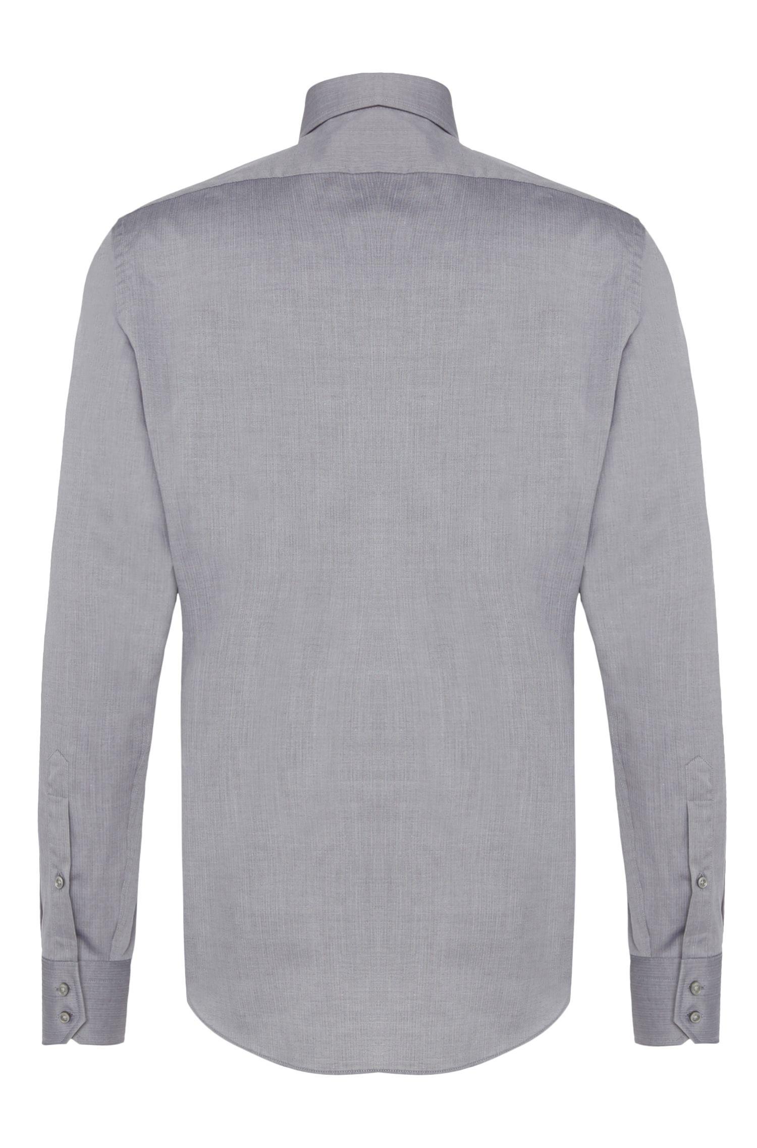 Fein gemustertes Regular-Fit Travel Line Hemd aus Baumwolle: 'Gordon'