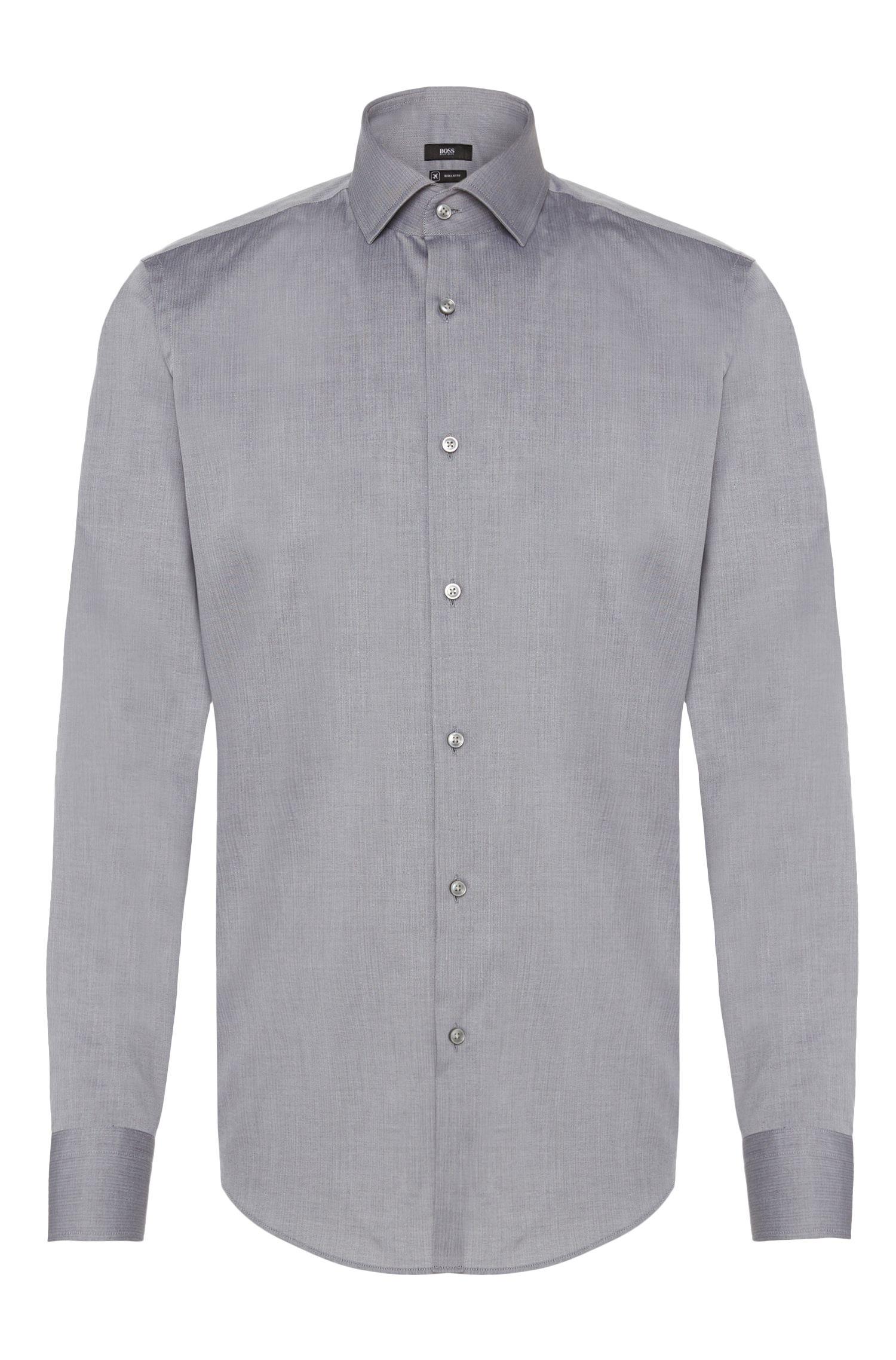 Chemise Regular Fit Travel Line en coton à motif fin : « Gordon »