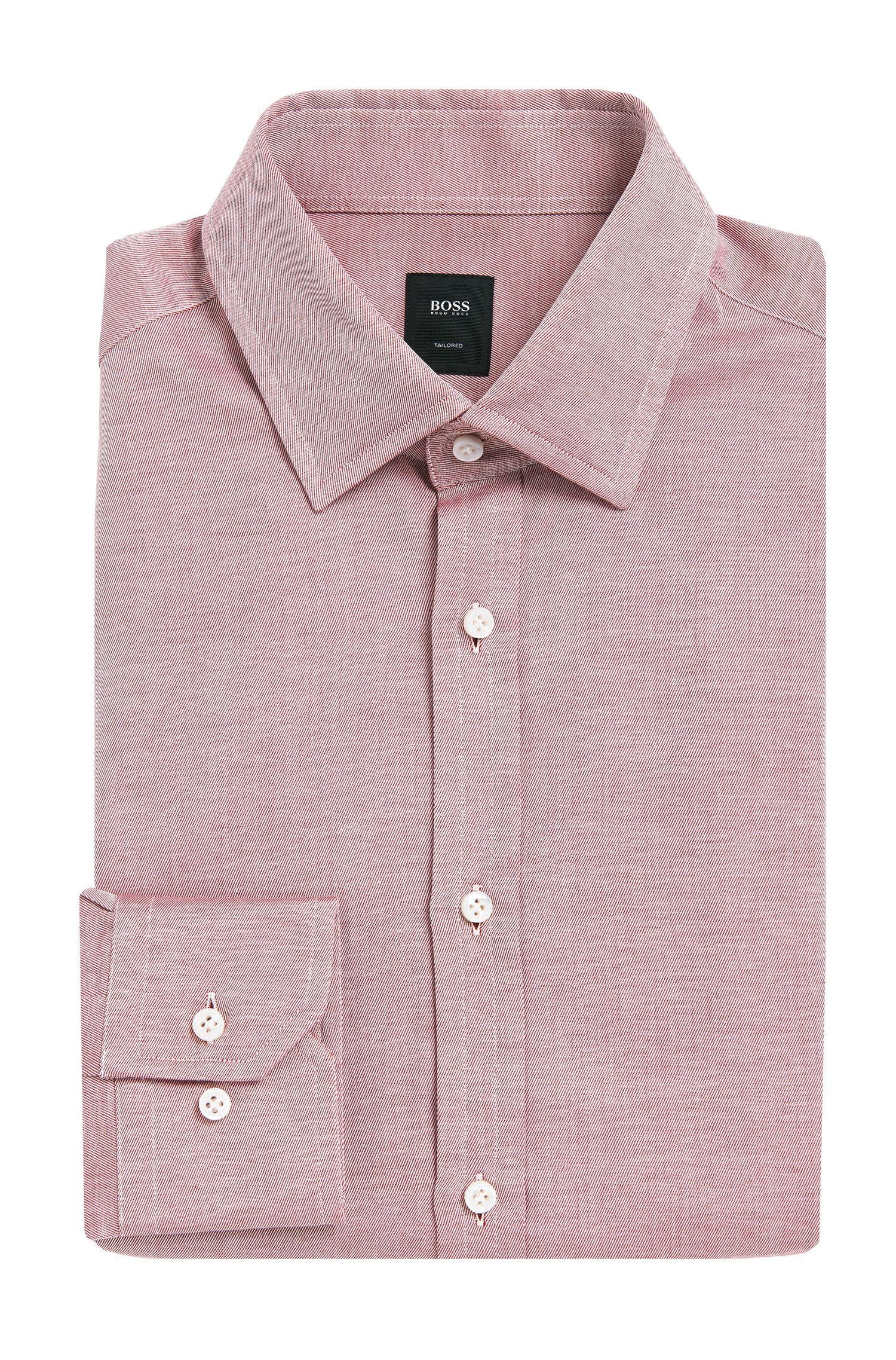 Fein gestreiftes Slim-Fit Tailored Hemd aus reiner Baumwolle: 'T-Shane'