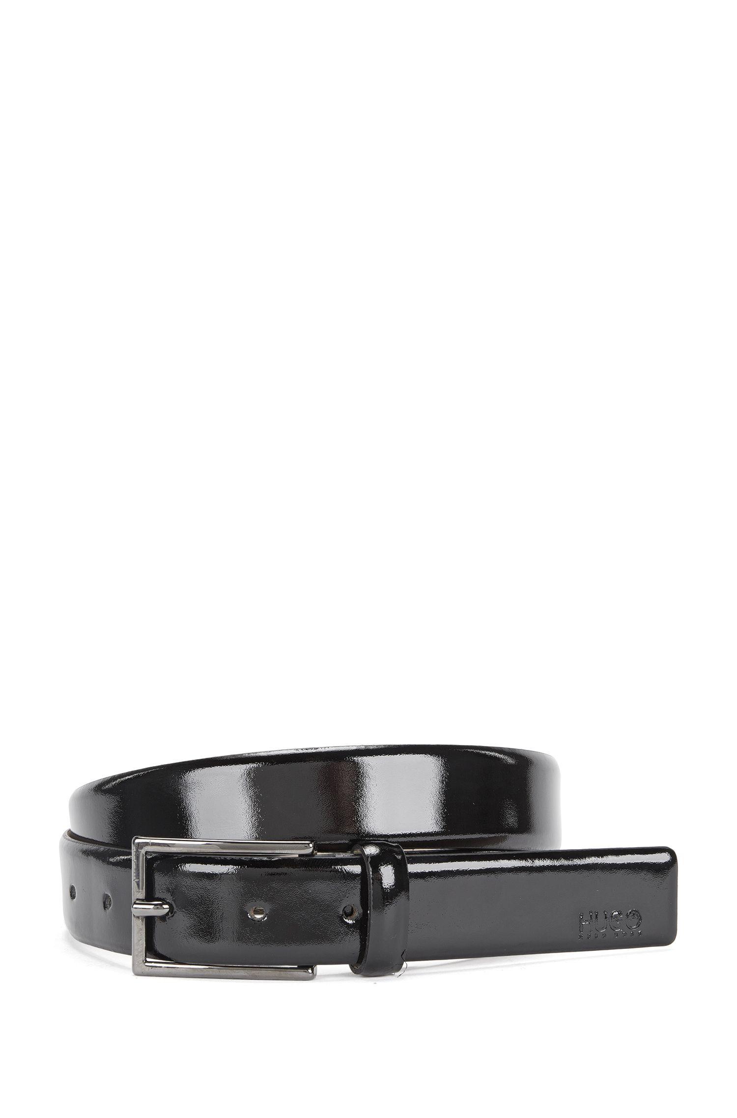 Cinturón hecho a mano en charol: 'C-Gegy_Sz30_papl'