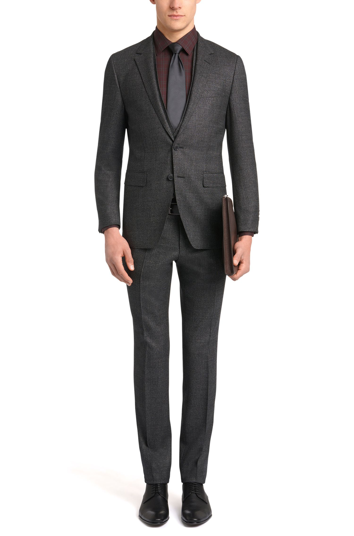 Kartiertes Slim-Fit Tailored-Hemd aus Baumwolle: 'T-Scott'