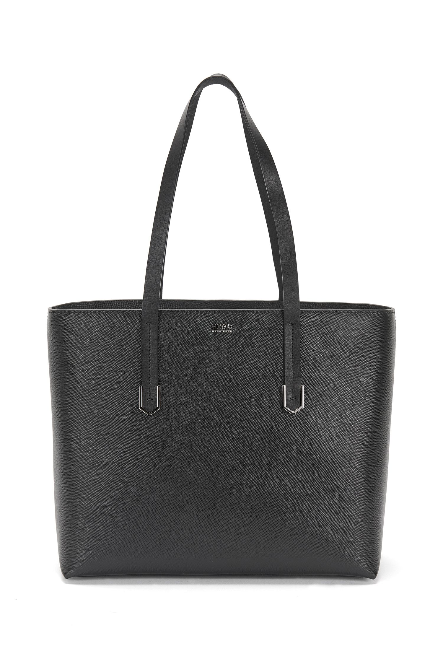 Shopper in leather with Saffiano embossing: 'Nives'