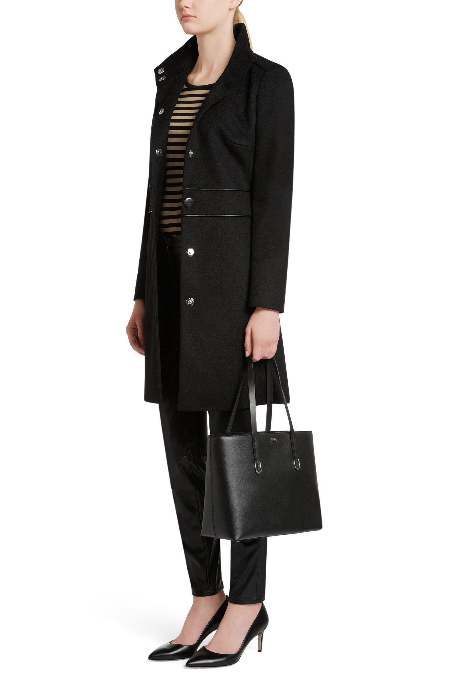 Shopper aus Leder mit Saffiano-Prägung: 'Nives'
