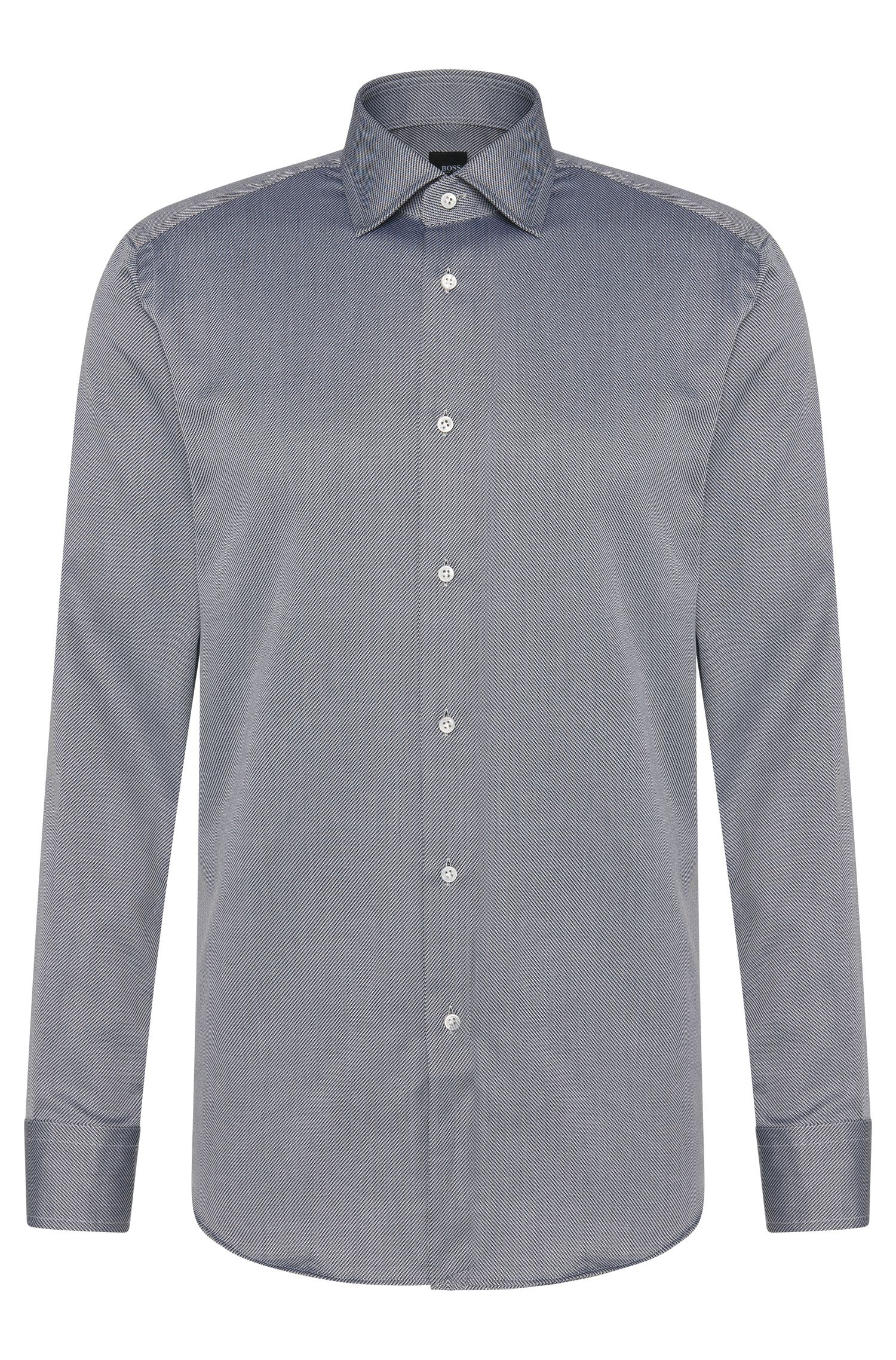 Chemise Regular Fit Tailored en coton, à fines rayures : « T-Stuart »