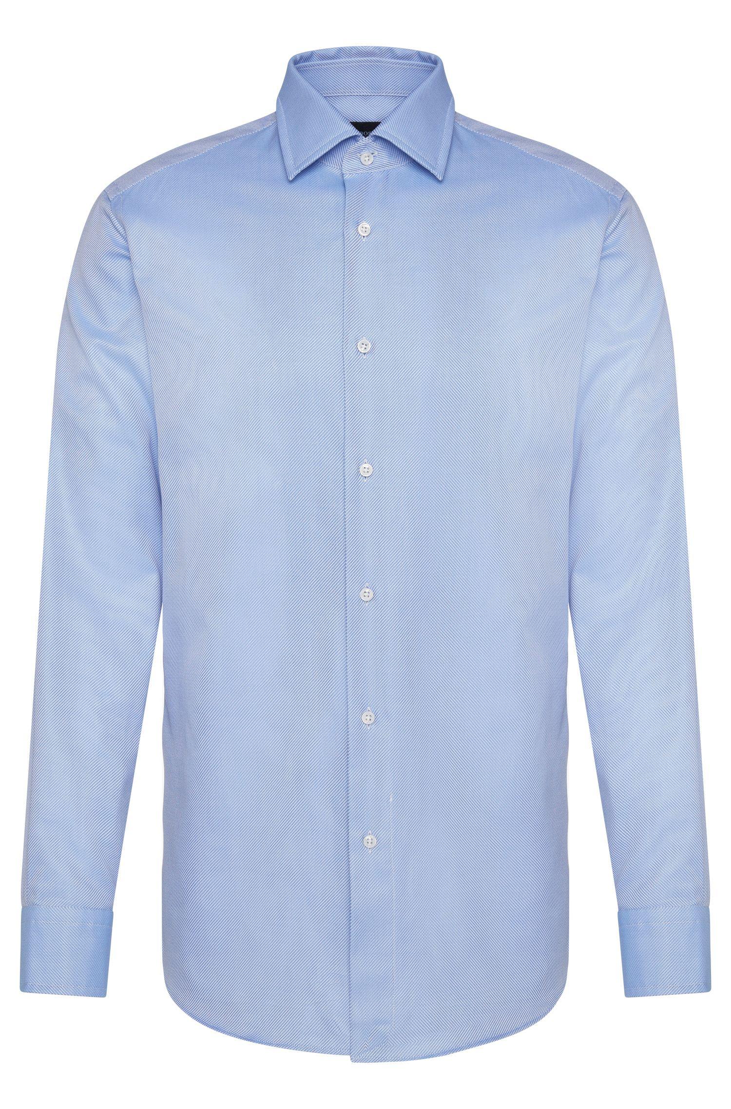 Fijngestreept, regular-fit overhemd van katoen uit de Tailored-collectie: 'T-Stuart'