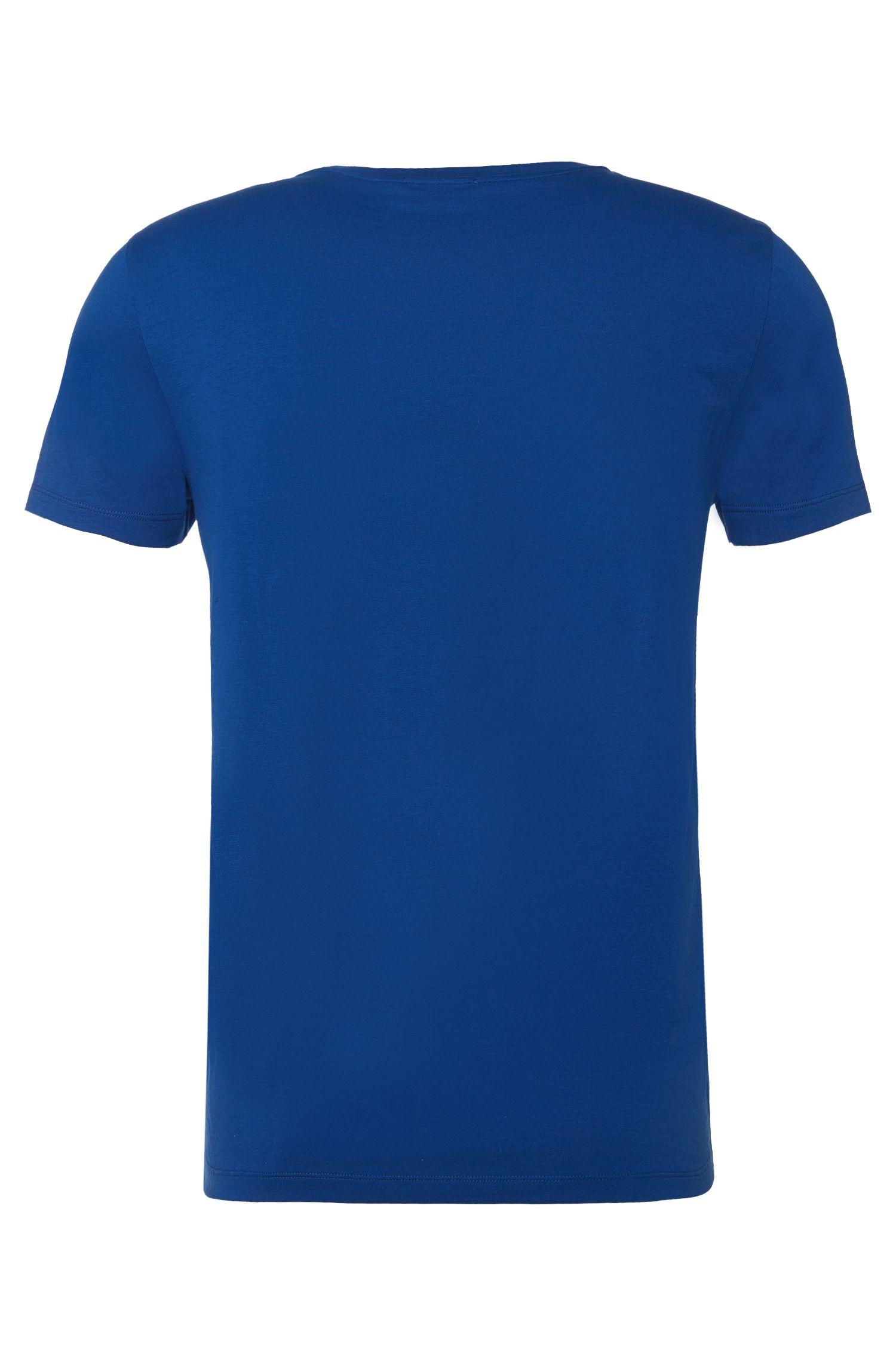 Slim-Fit T-Shirt aus Baumwolle mit Print-Detail: 'Tessler 34'