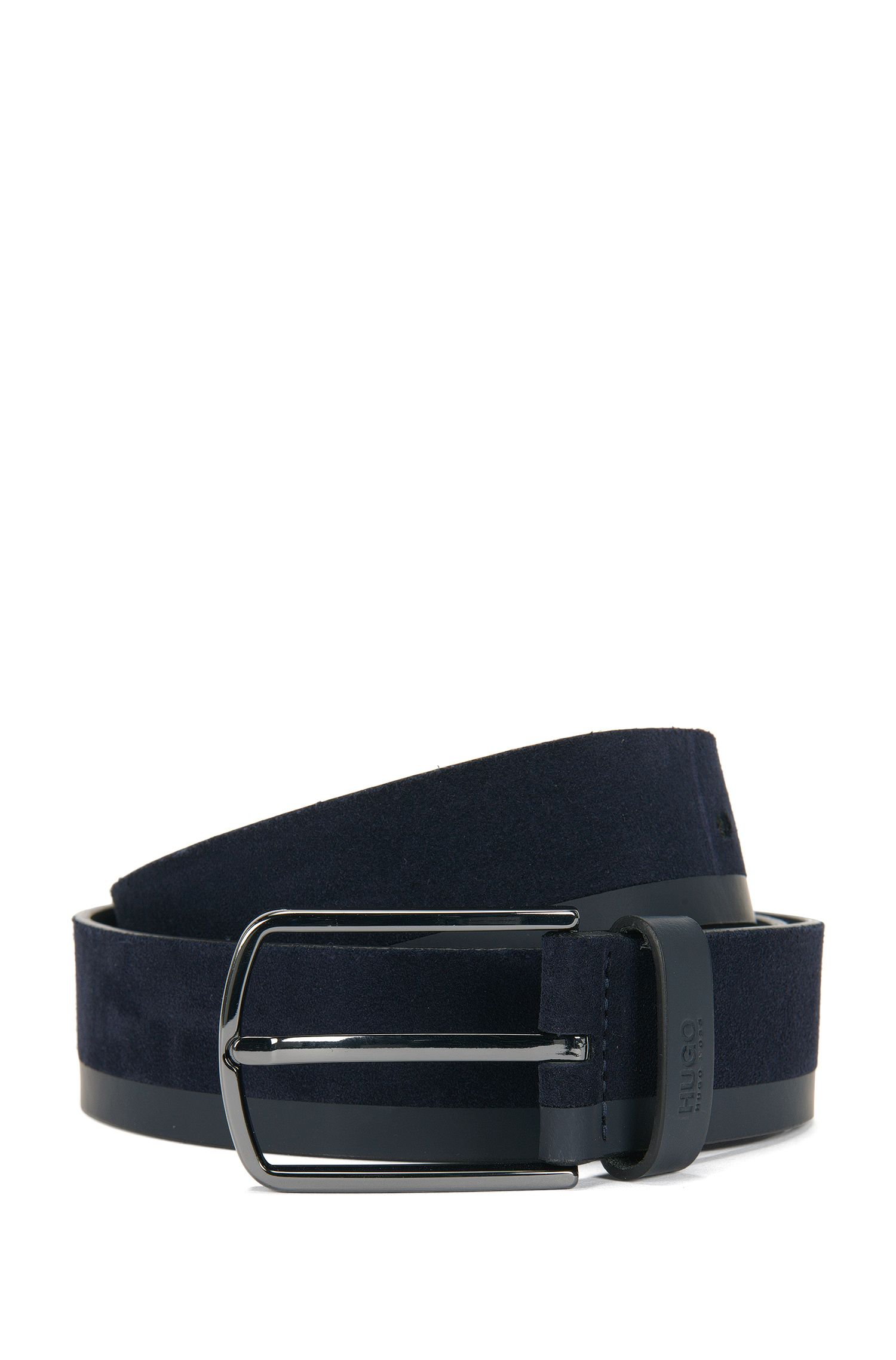 Leather belt in texture mix: 'Gemin_Sz35_mx'