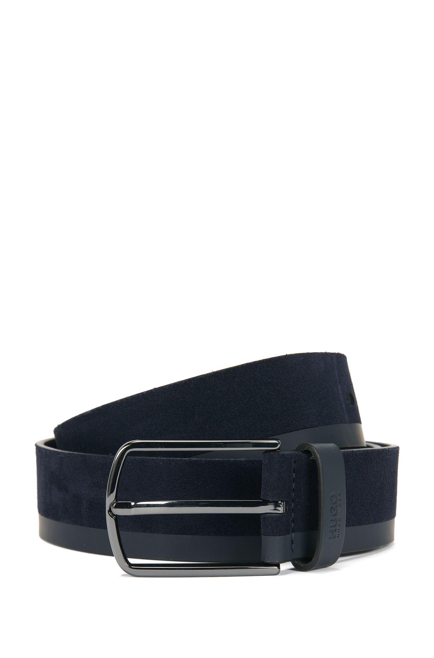 Cintura in pelle con struttura mista: 'Gemin_Sz35_mx'