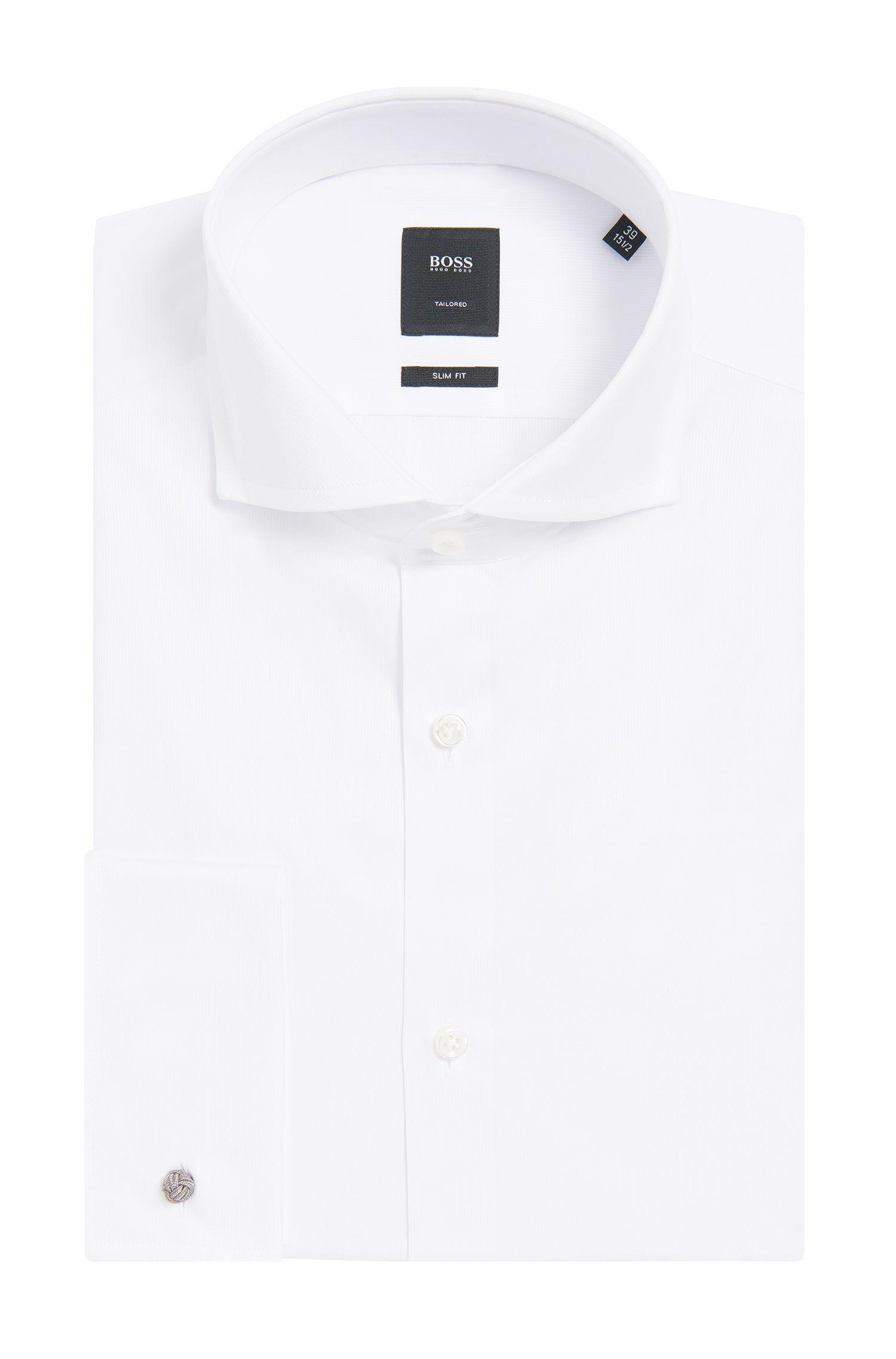 Chemise Slim Fit Tailored en coton à poignets mousquetaires: «T-Yacob»