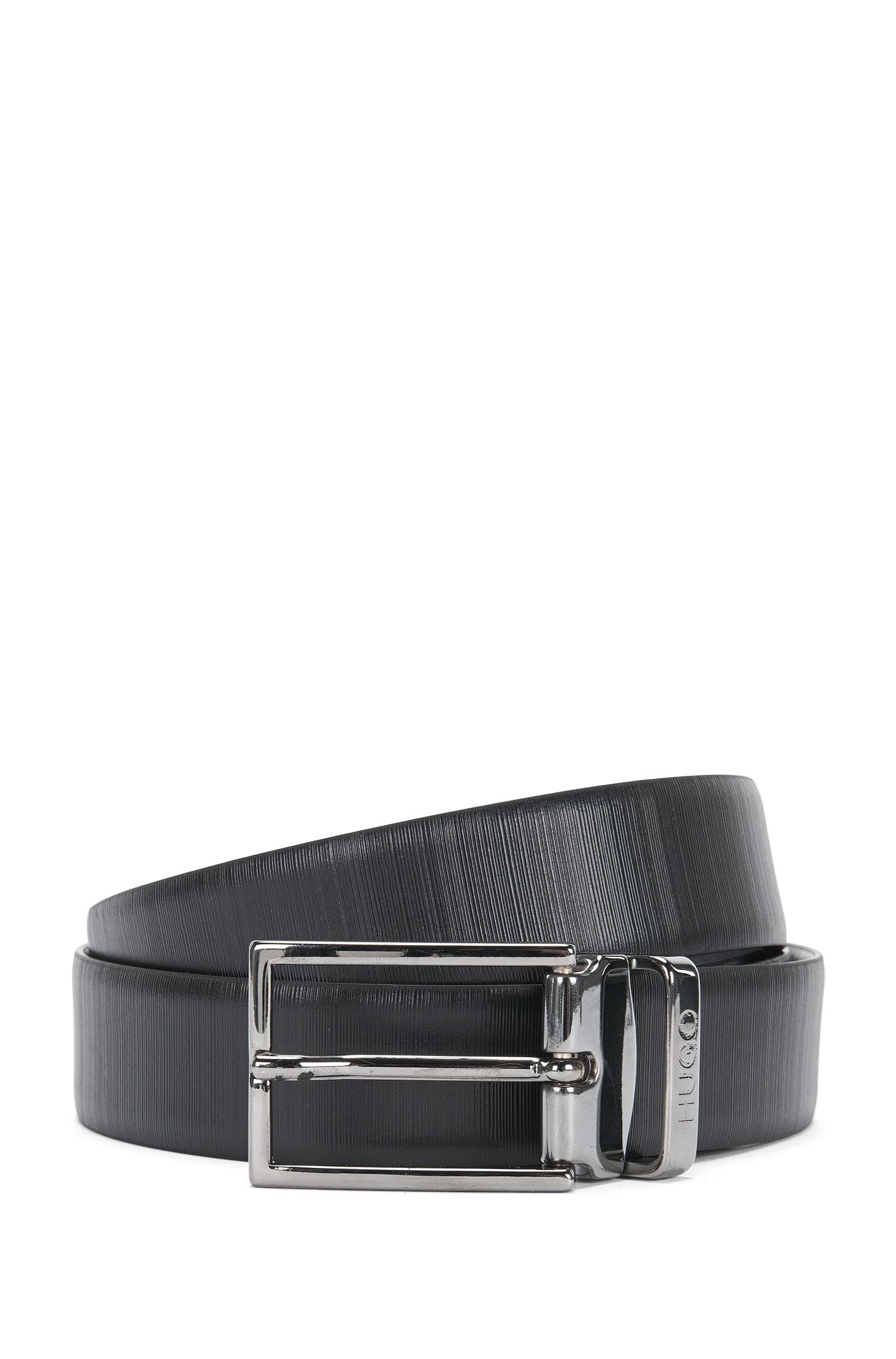 Reversible leather belt with exchangeable buckle: 'Gibilso_Gb30_ps'