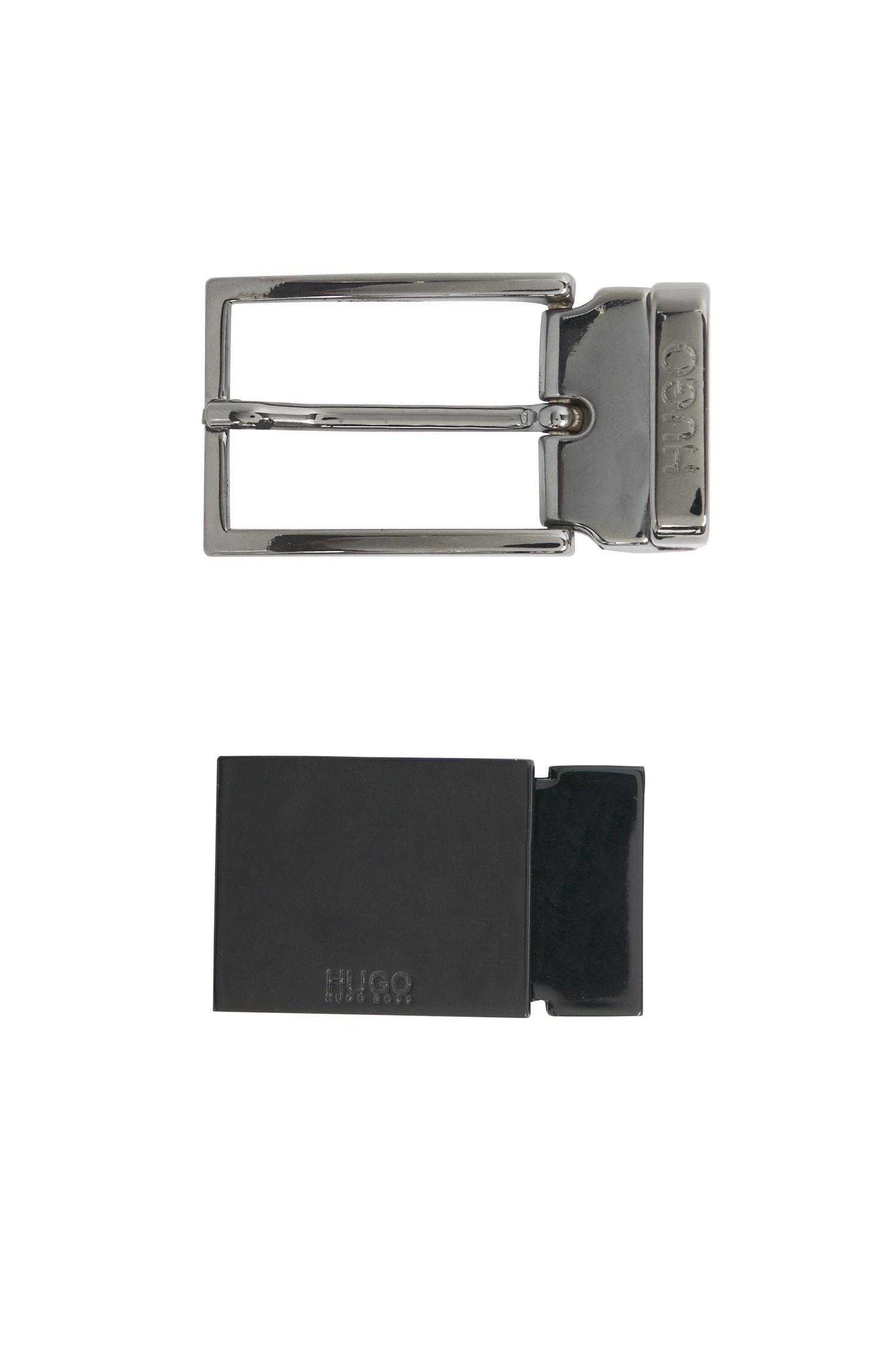 Wendegürtel aus Leder mit austauschbarer Schnalle: 'Gibilso_Gb30_ps'