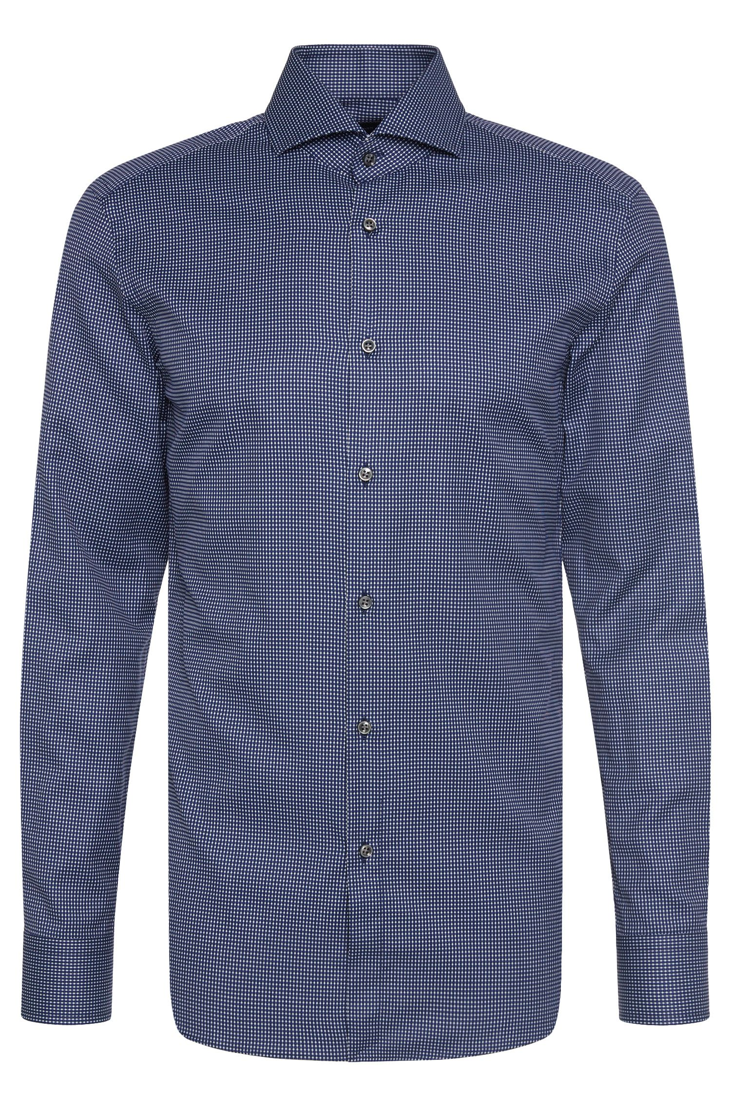 Chemise en coton à motif Slim Fit Tailored : « T-Christo »