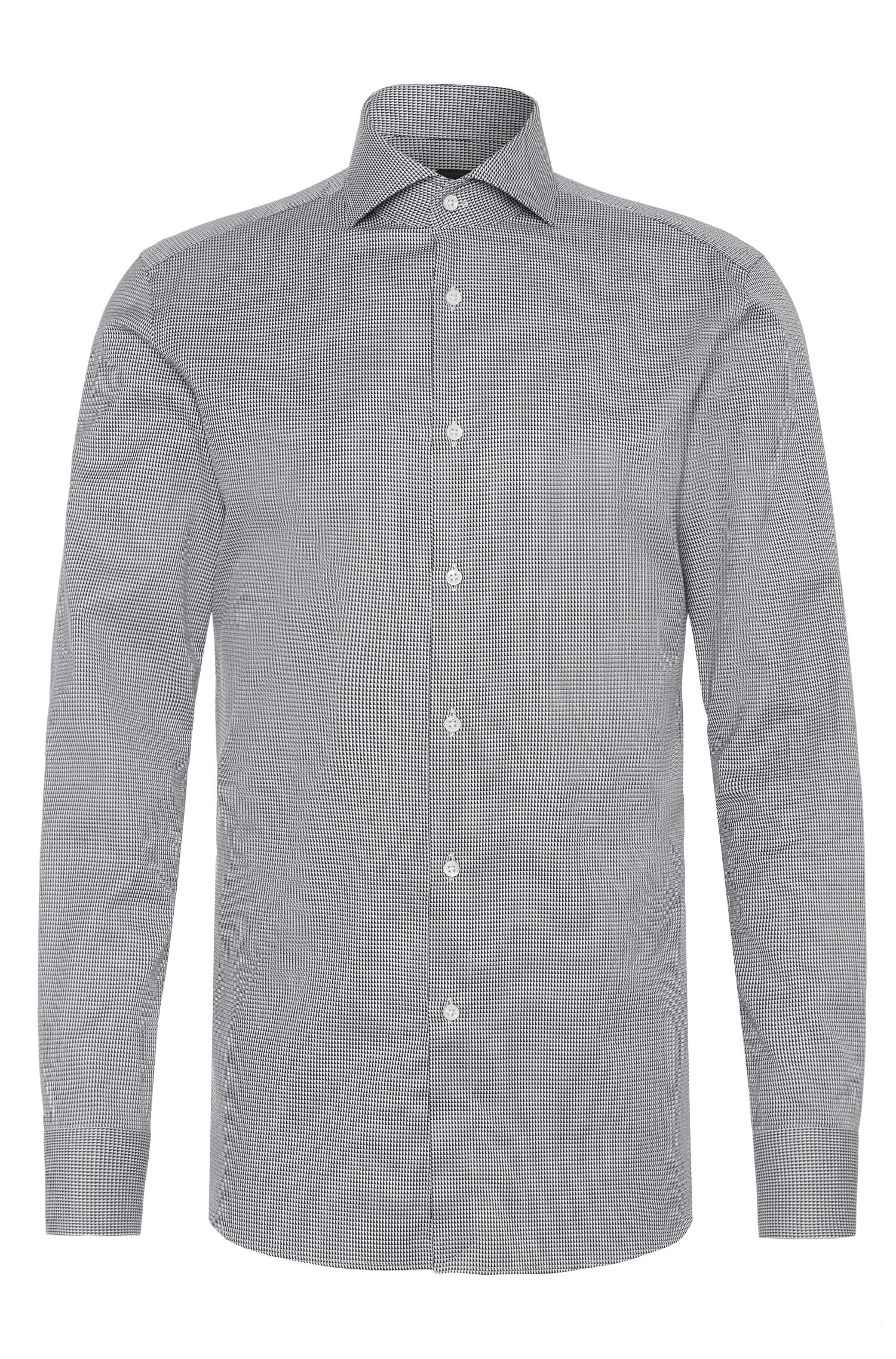 Patterned slim-fit Tailored shirt in cotton: 'T-Christo'