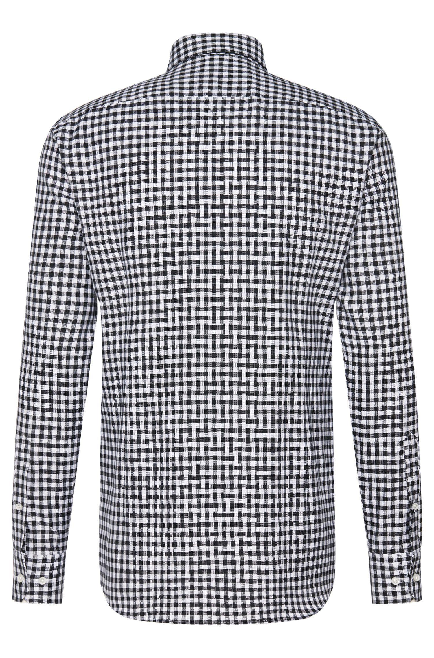 Geruit slim-fit overhemd van katoen uit de Tailored-collectie: 'T-Christo'