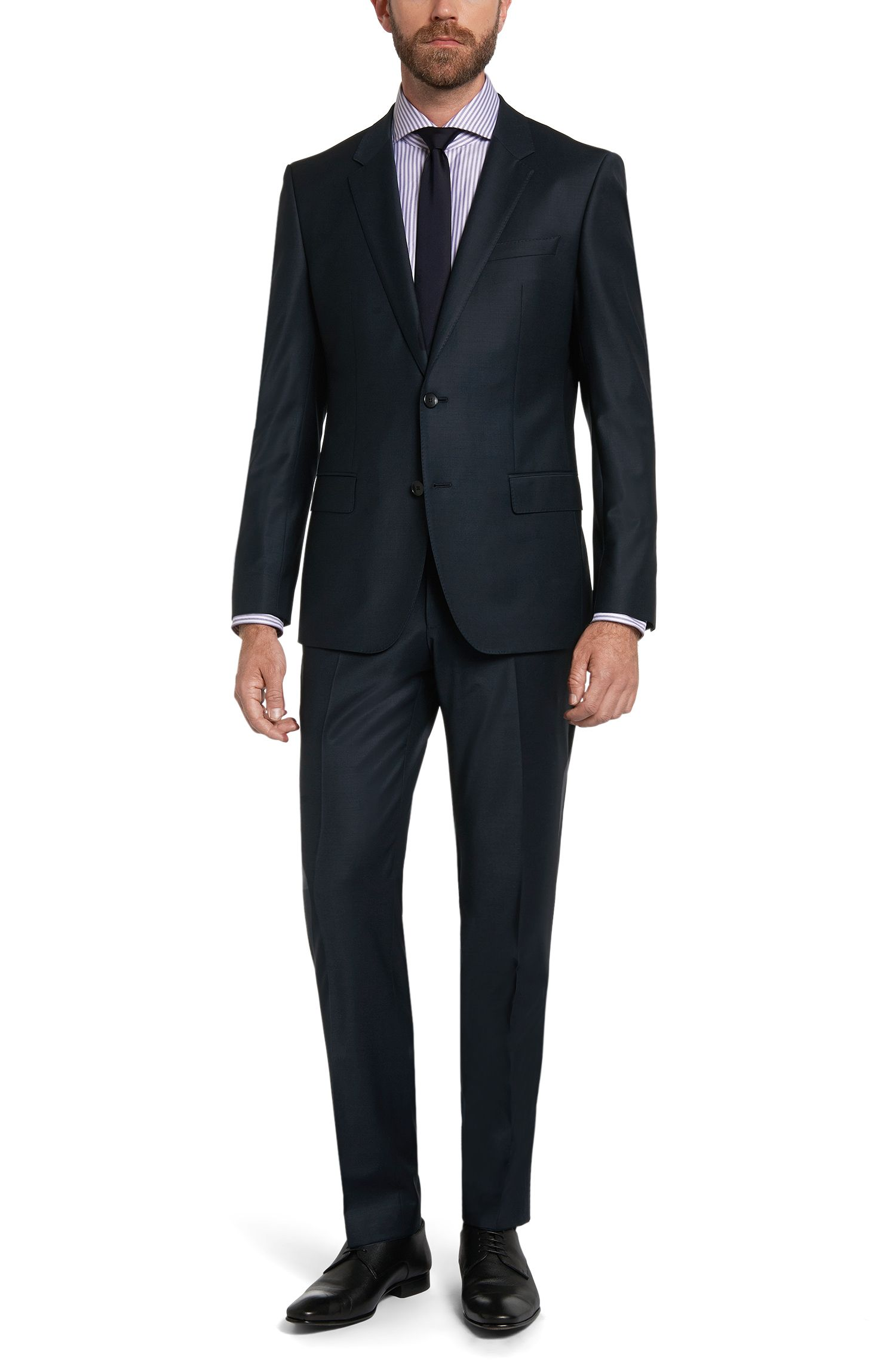 Gestreiftes Slim-Fit Tailored Hemd aus Baumwolle: 'T-Christo'